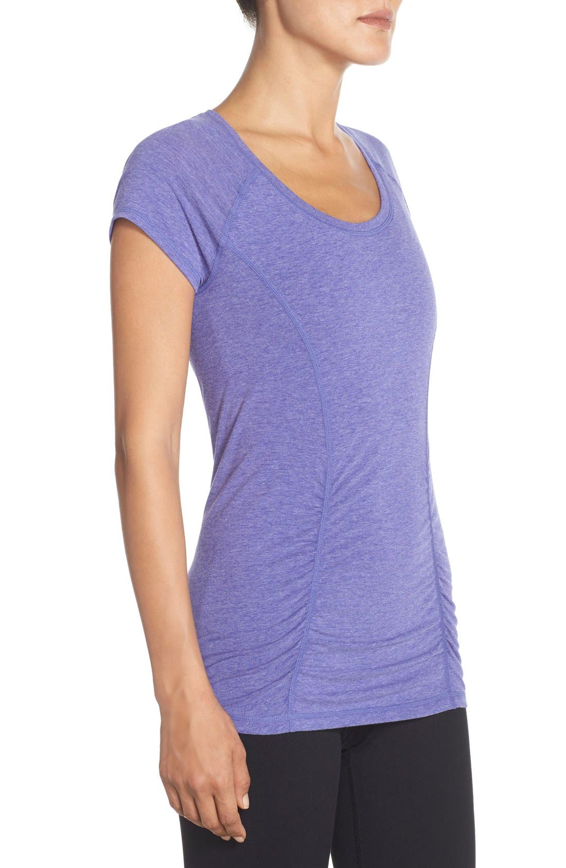 'Z 6' Ruched Tee,                             Alternate thumbnail 55, color,