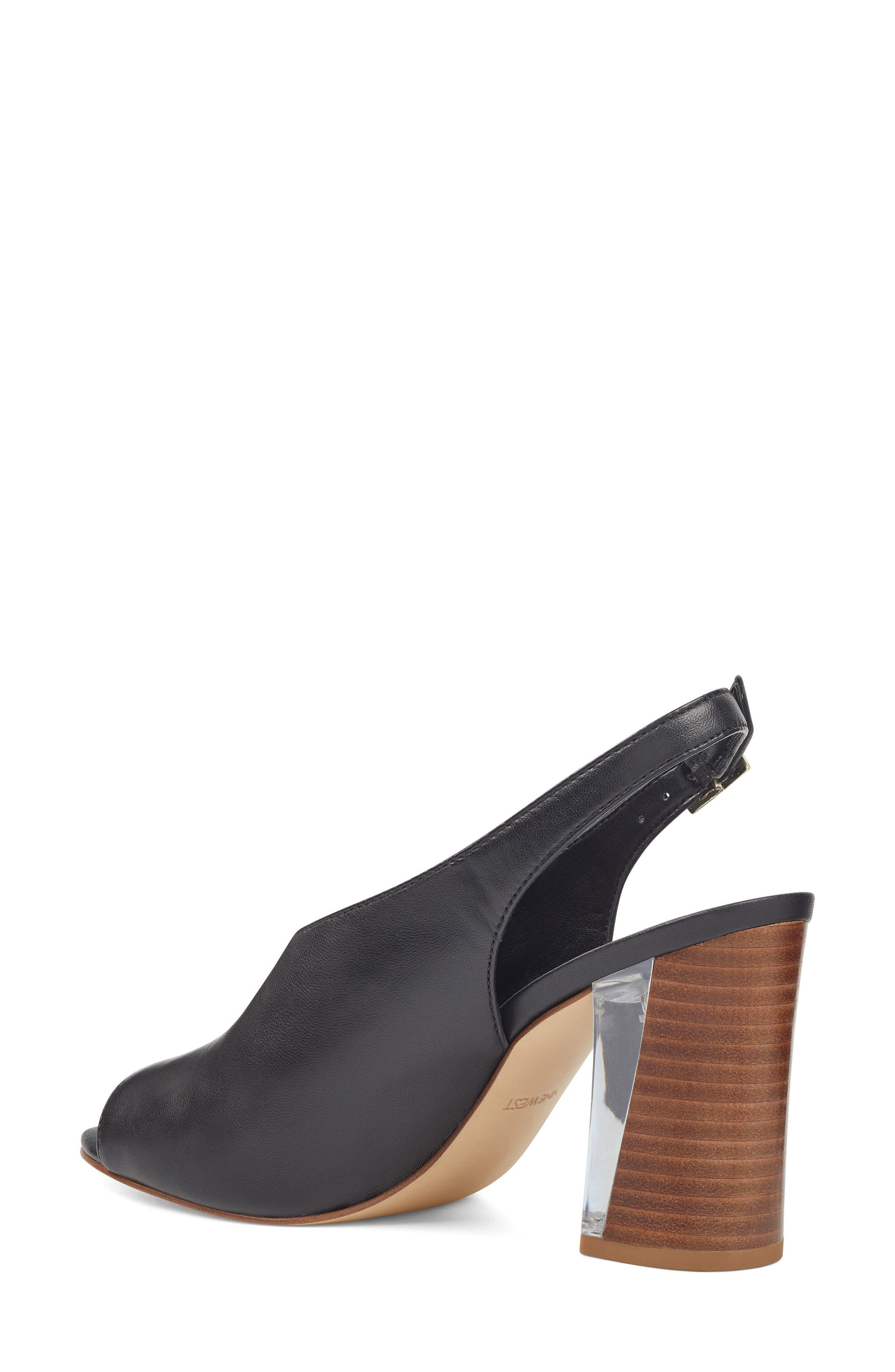 Morenzo Slingback Sandal,                             Alternate thumbnail 2, color,                             BLACK LEATHER