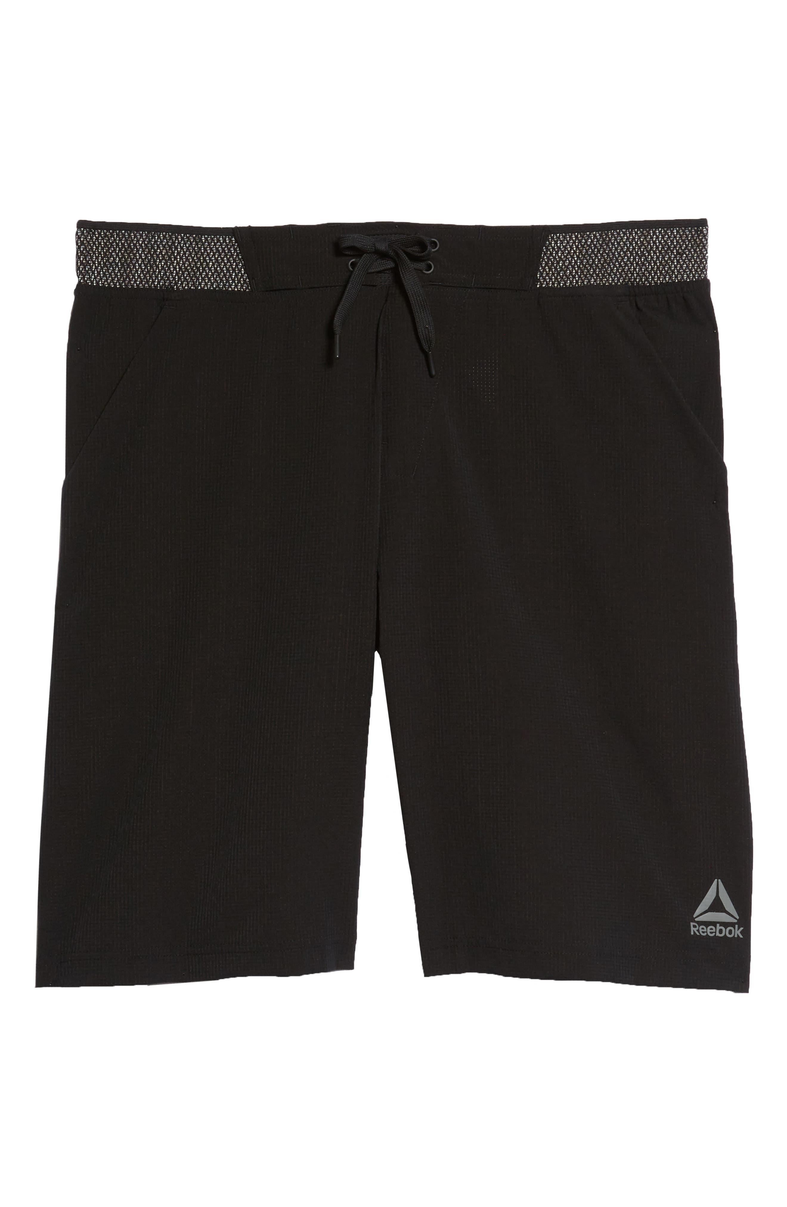 Epic Knit Shorts,                             Alternate thumbnail 6, color,                             BLACK