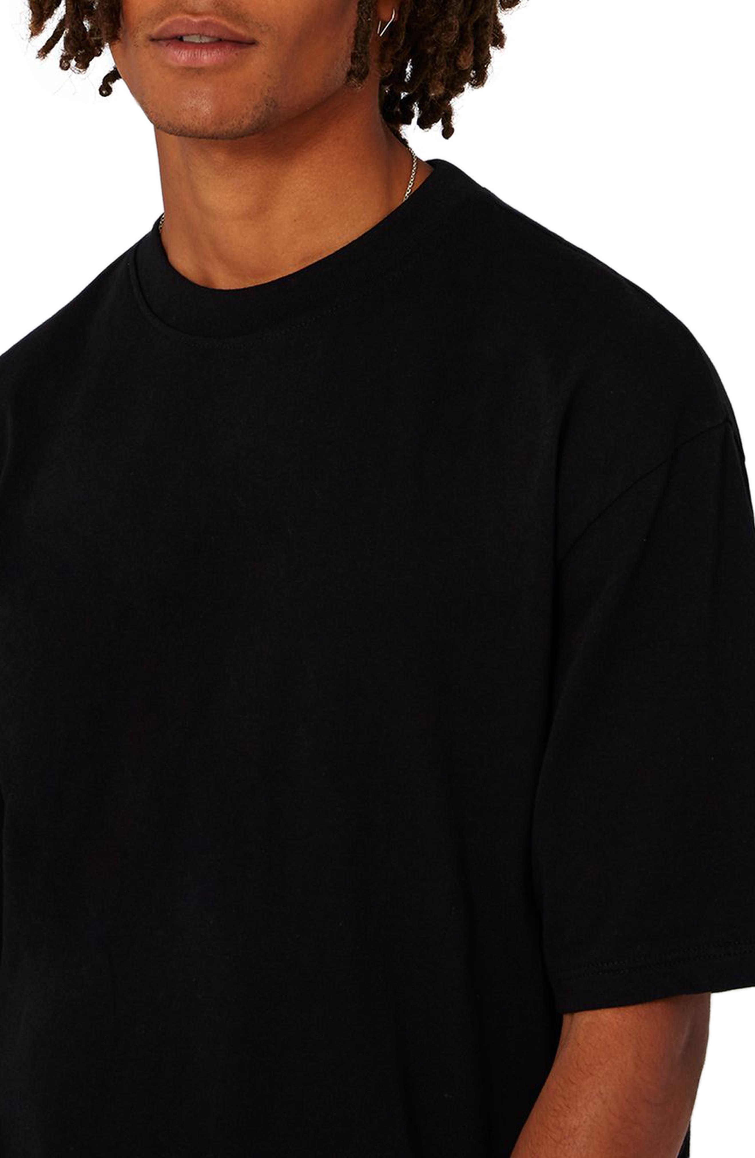 Oversize T-Shirt,                             Alternate thumbnail 3, color,                             001