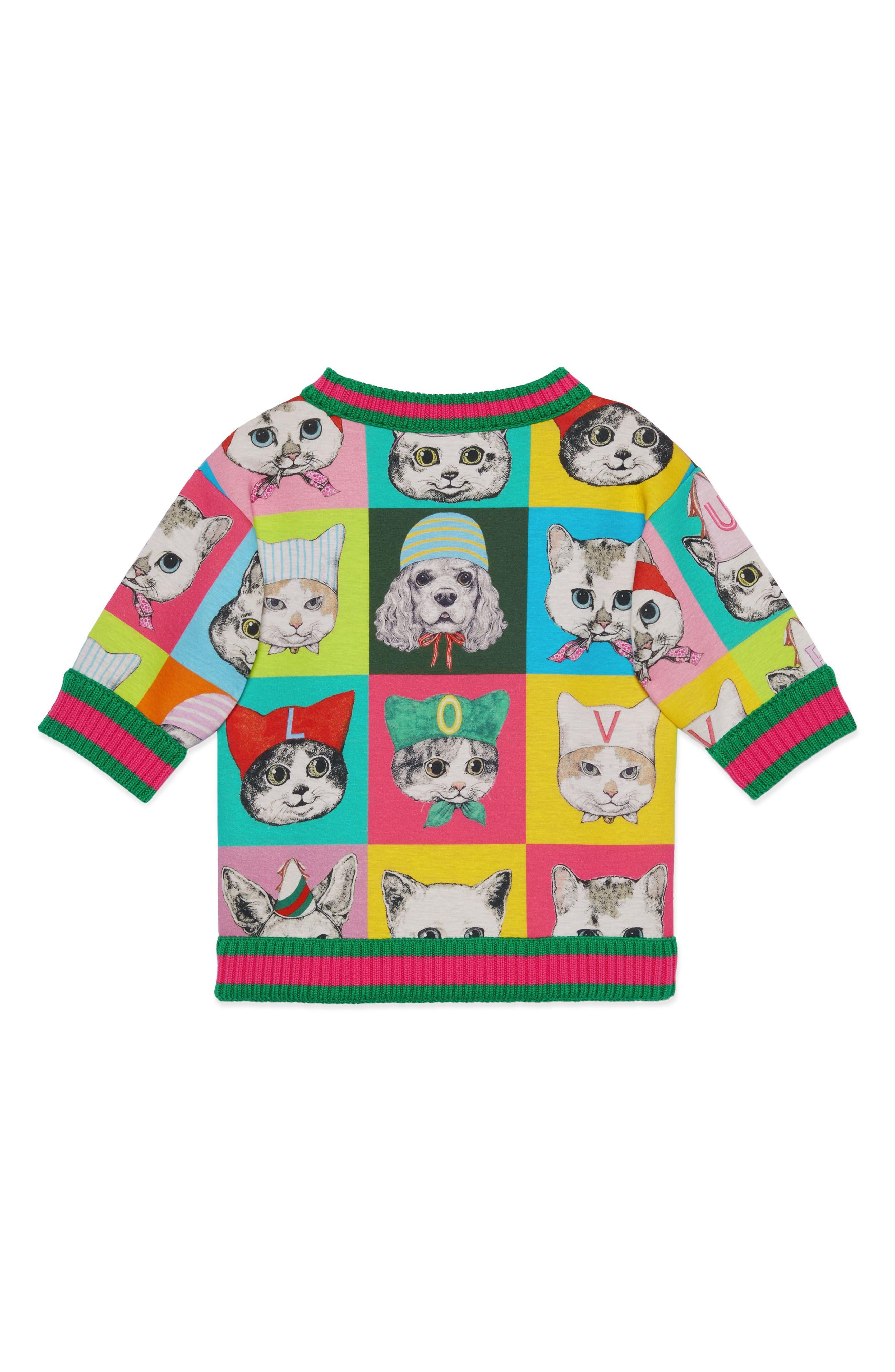 Graphic Sweatshirt,                             Alternate thumbnail 2, color,                             PINK PRINT