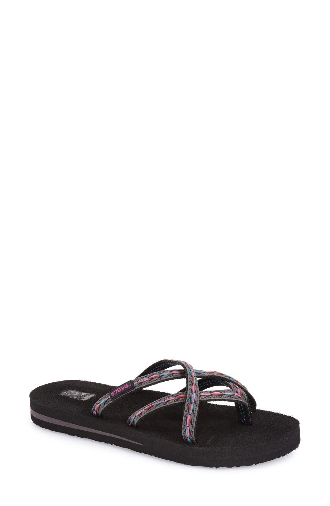 TEVA 'Olowahu' Sandal in Felicitas Black
