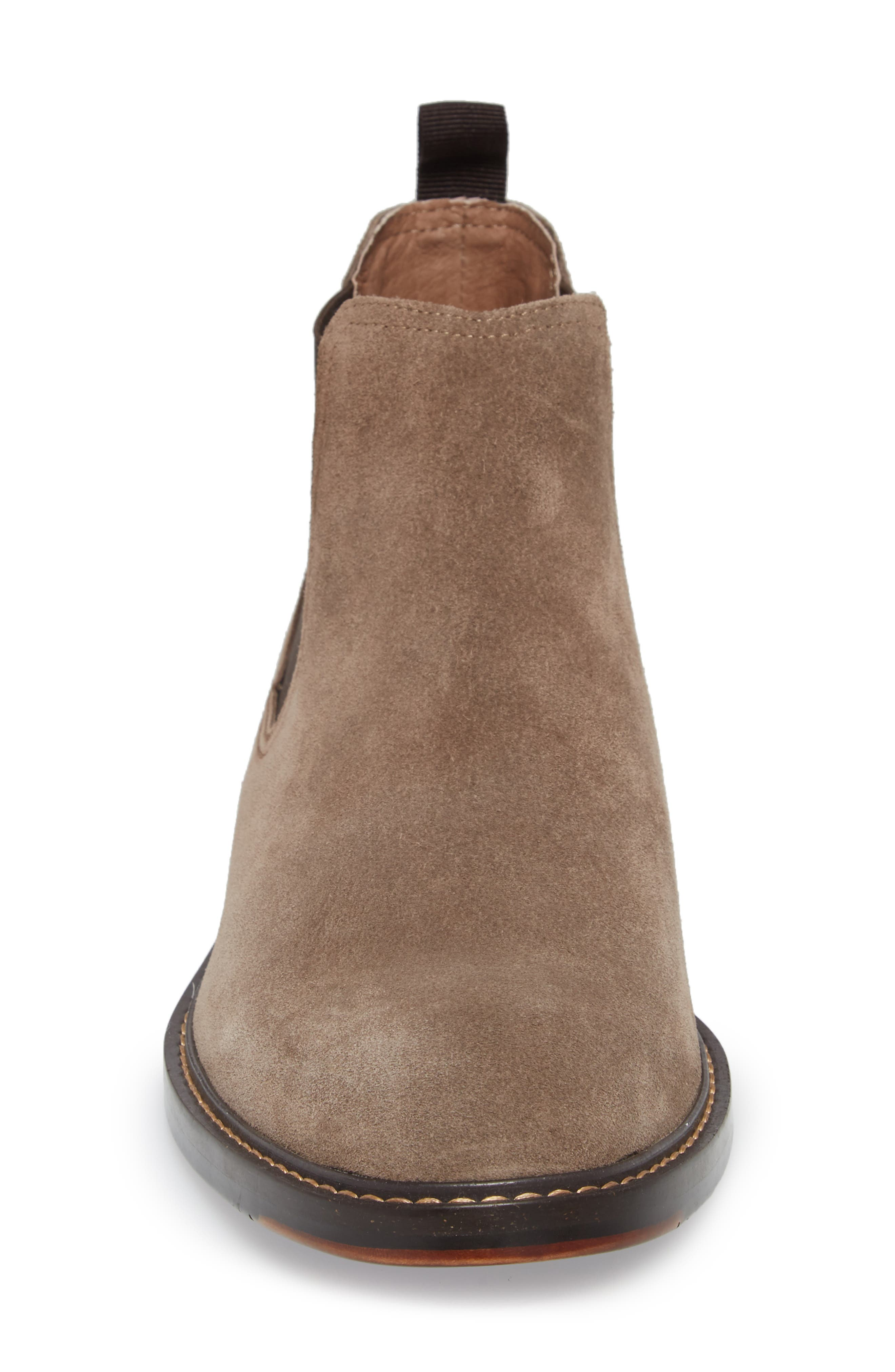 Brooks Chelsea Boot,                             Alternate thumbnail 4, color,                             TAUPE SUEDE