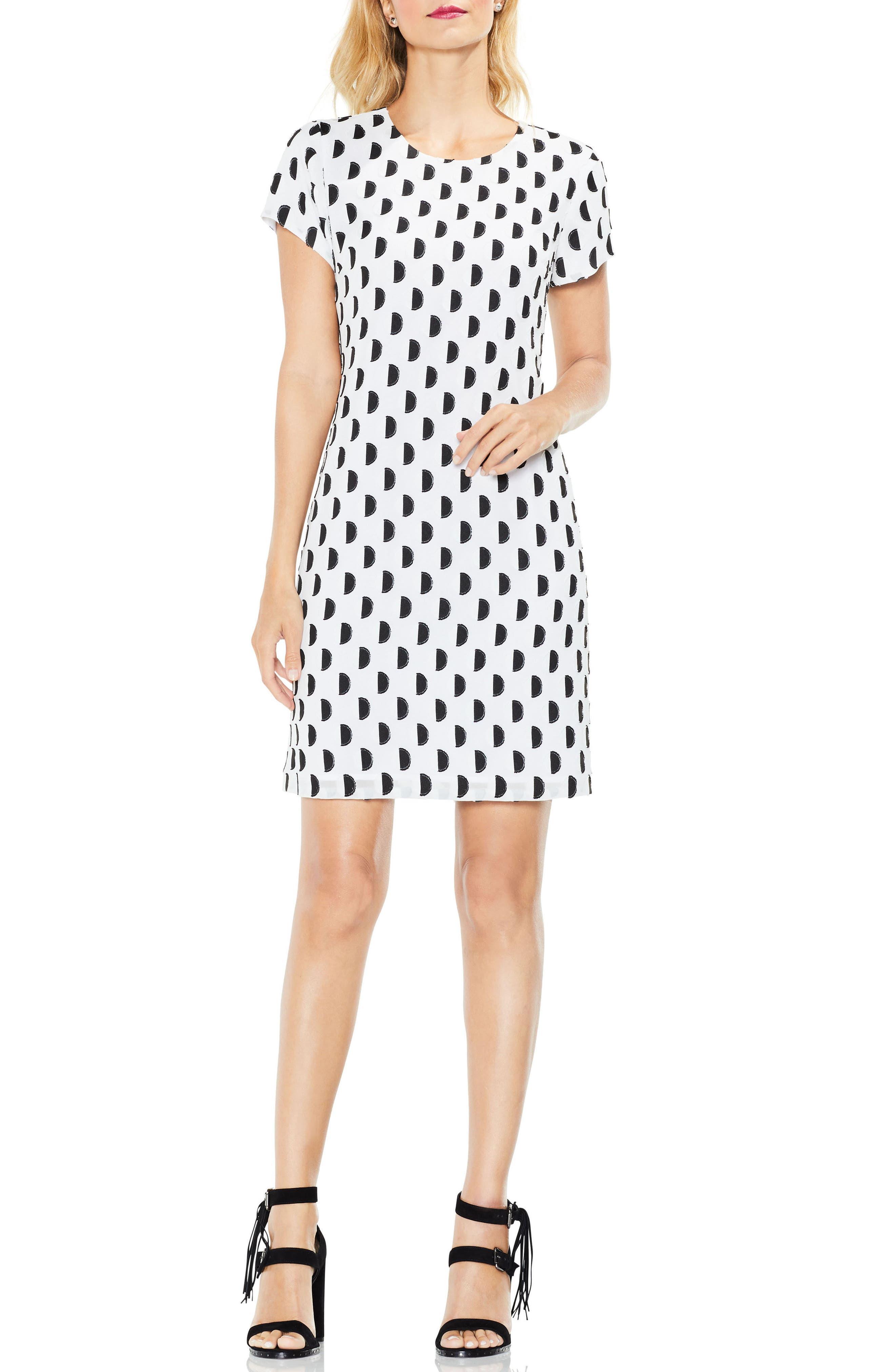 Graphic Clip Dot Shift Dress,                             Alternate thumbnail 3, color,                             103