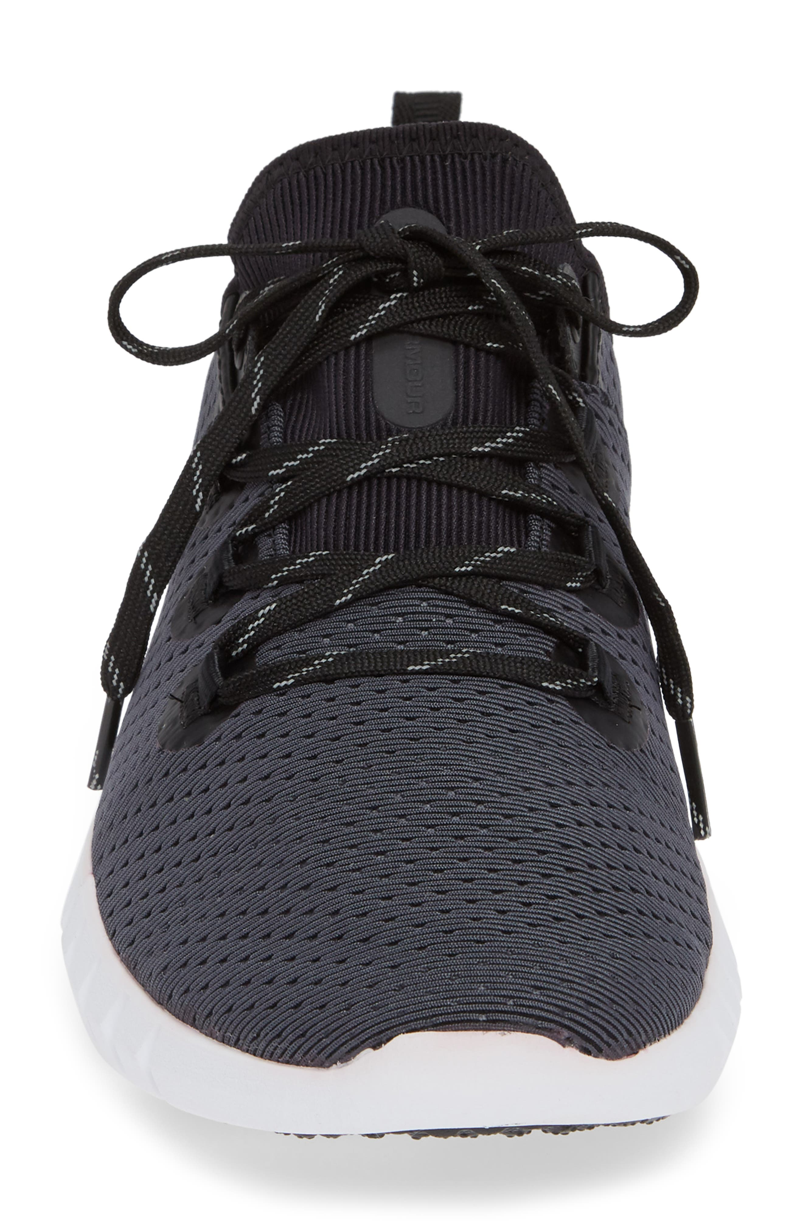 HOVR<sup>™</sup> SLK Running Shoe,                             Alternate thumbnail 4, color,                             BLACK/ WHITE / BLACK