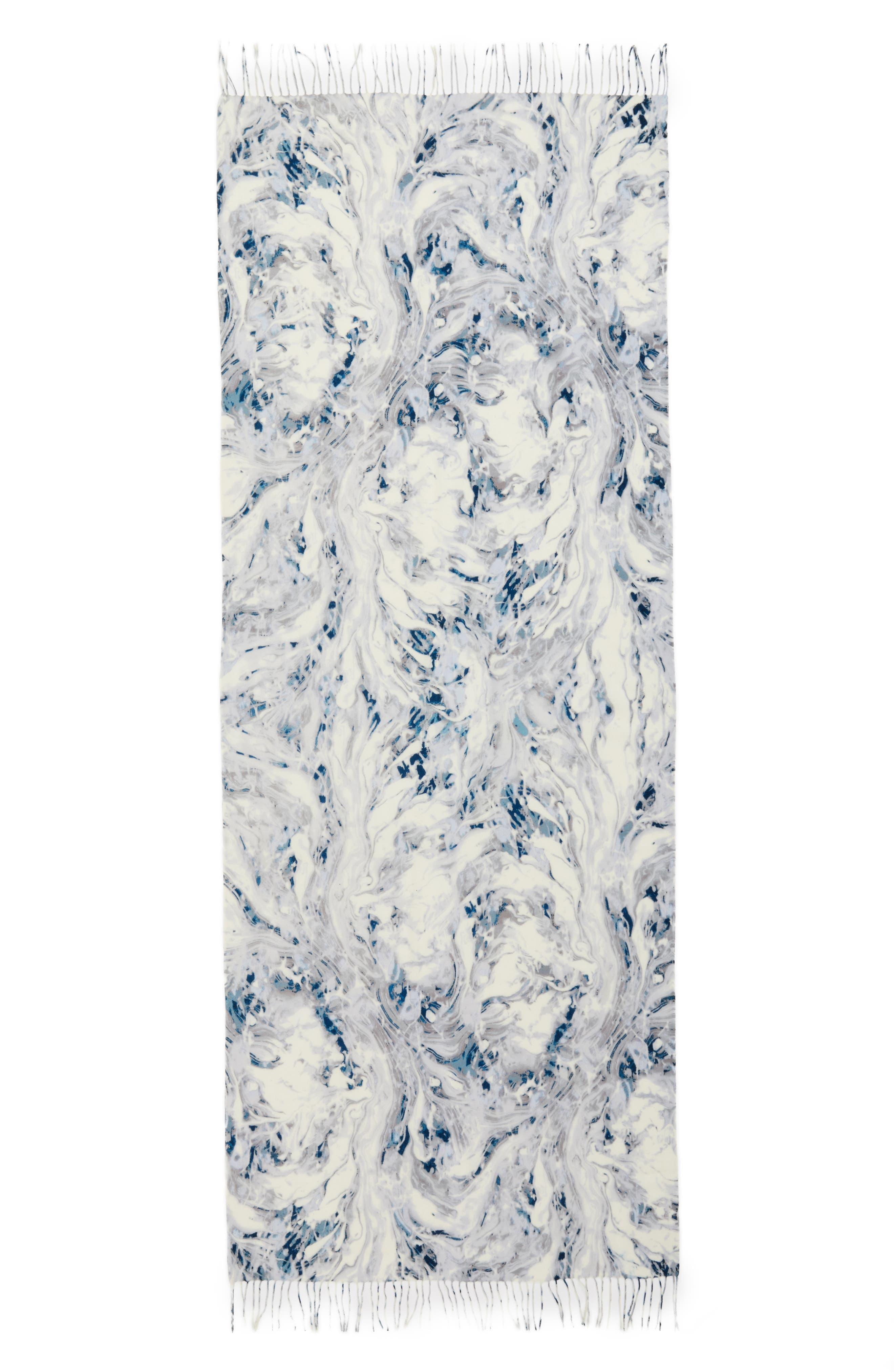 Marble Tissue Wool & Cashmere Scarf,                             Alternate thumbnail 3, color,                             020
