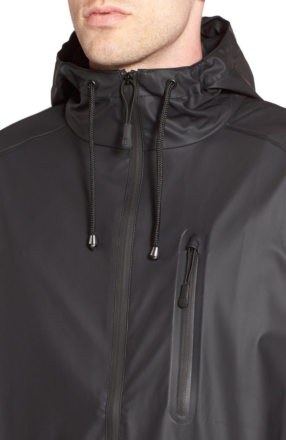 Waterproof Parka Coat,                             Alternate thumbnail 8, color,                             BLACK