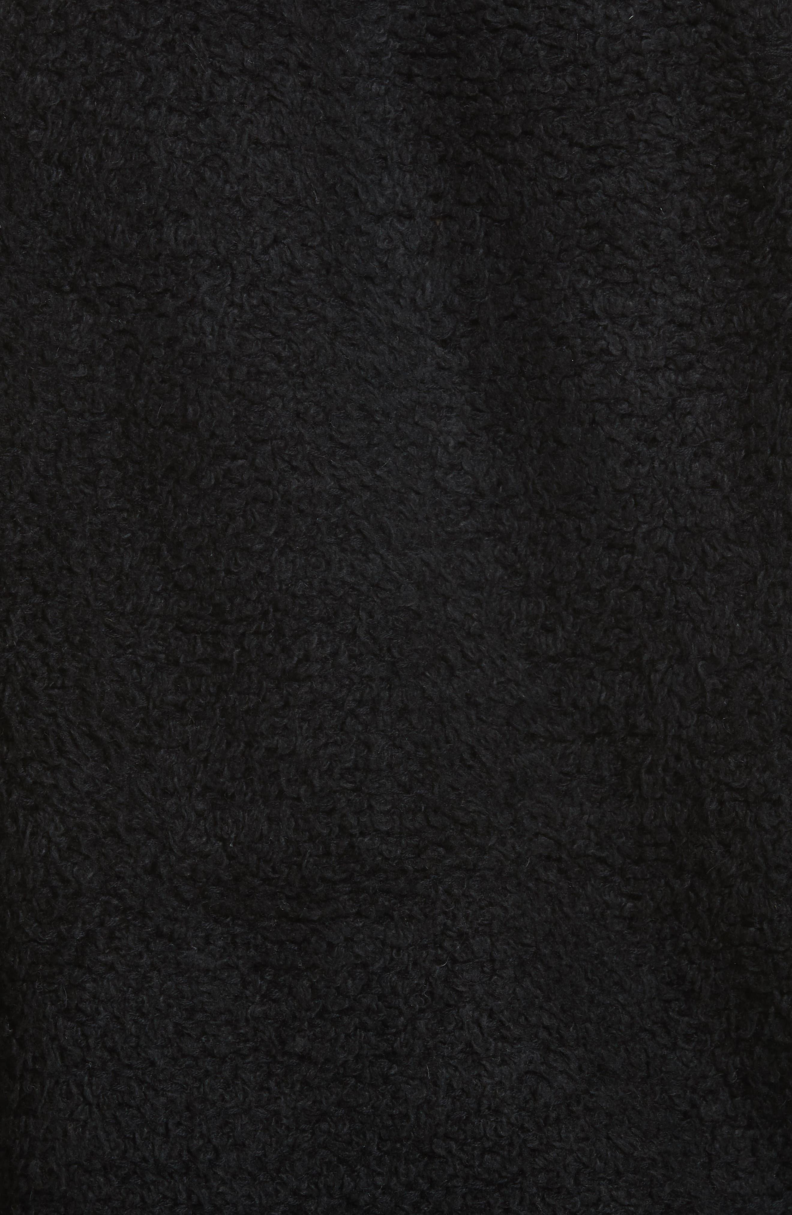 Brooke Teddy Sweatshirt,                             Alternate thumbnail 5, color,                             BLACK