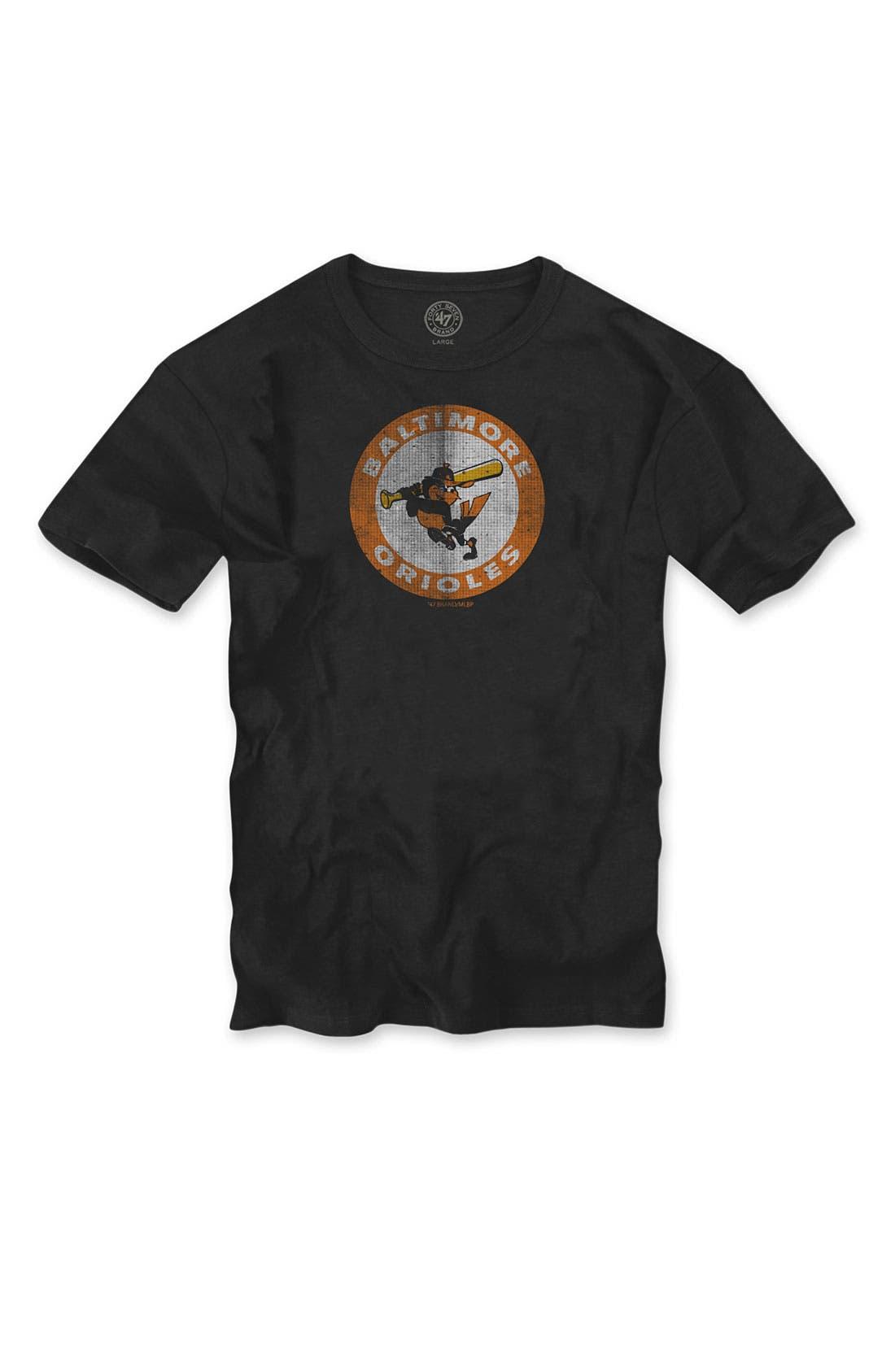 'Chicago Cubs' Regular Fit Crewneck T-Shirt,                             Main thumbnail 3, color,