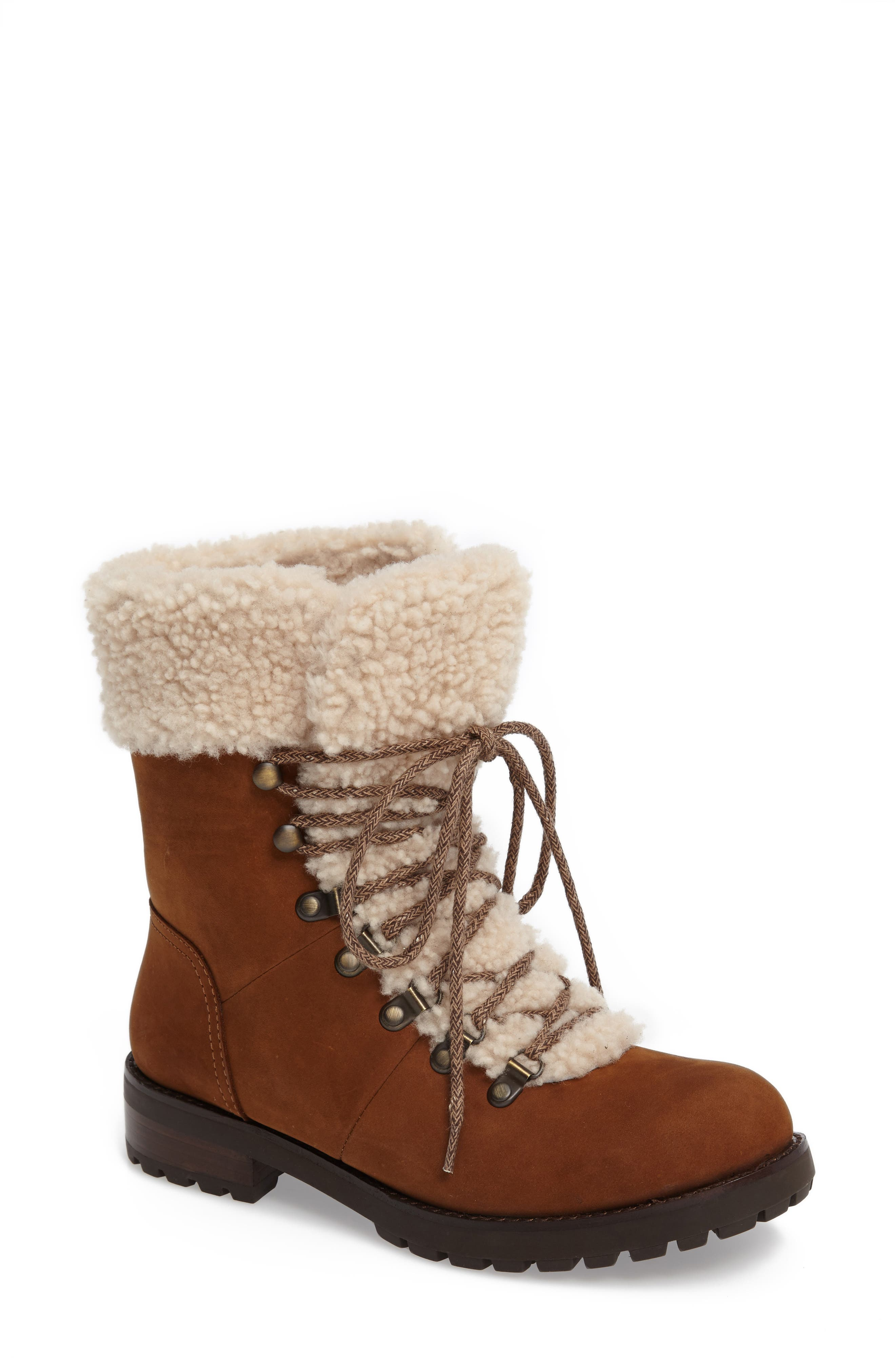 Fraser Genuine Shearling Water Resistant Boot,                             Main thumbnail 4, color,