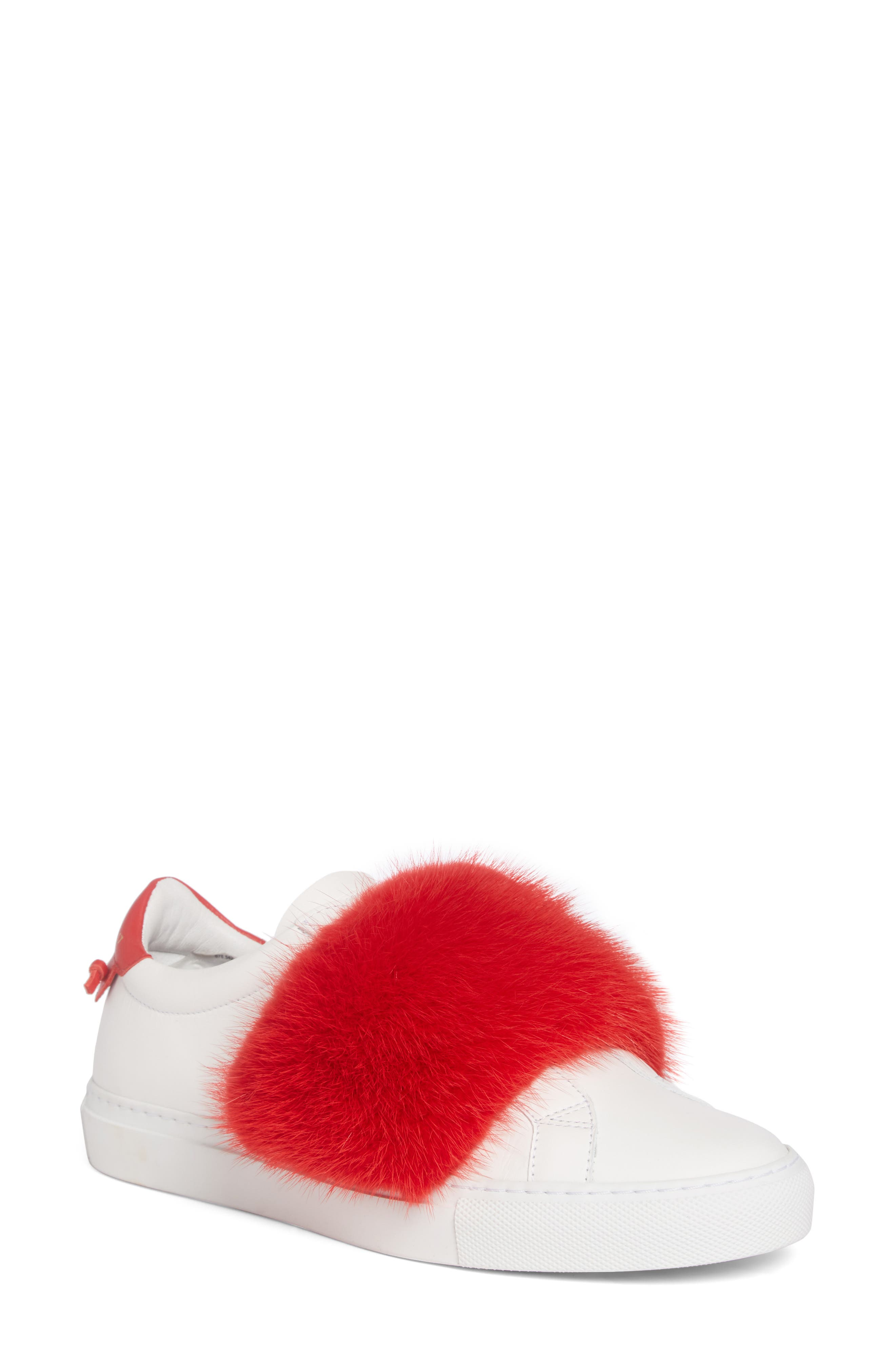 Urban Street Slip-On Sneaker with Genuine Mink Fur Trim,                             Main thumbnail 3, color,