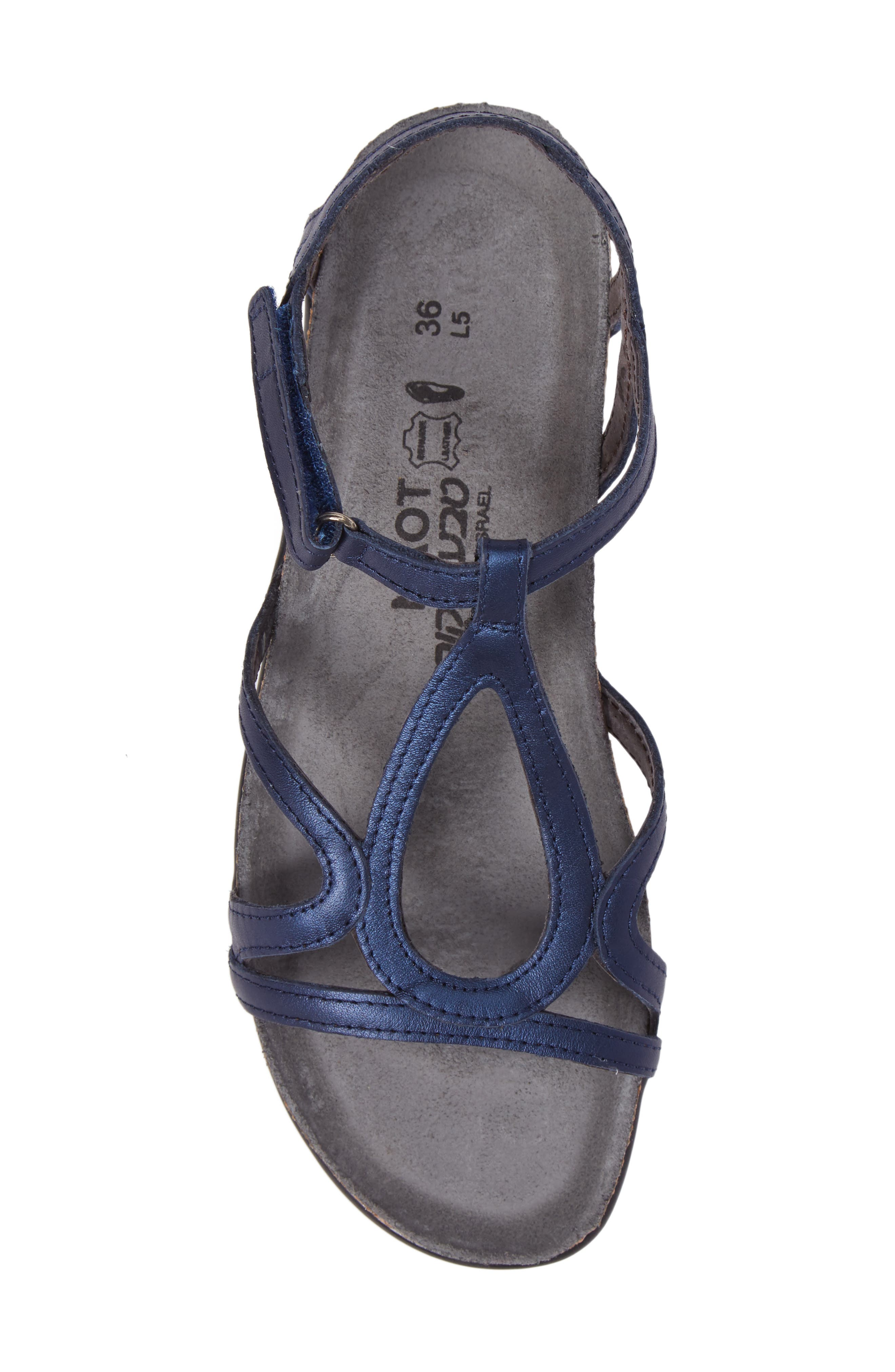 'Dorith' Sandal,                             Alternate thumbnail 5, color,                             POLAR SEA LEATHER