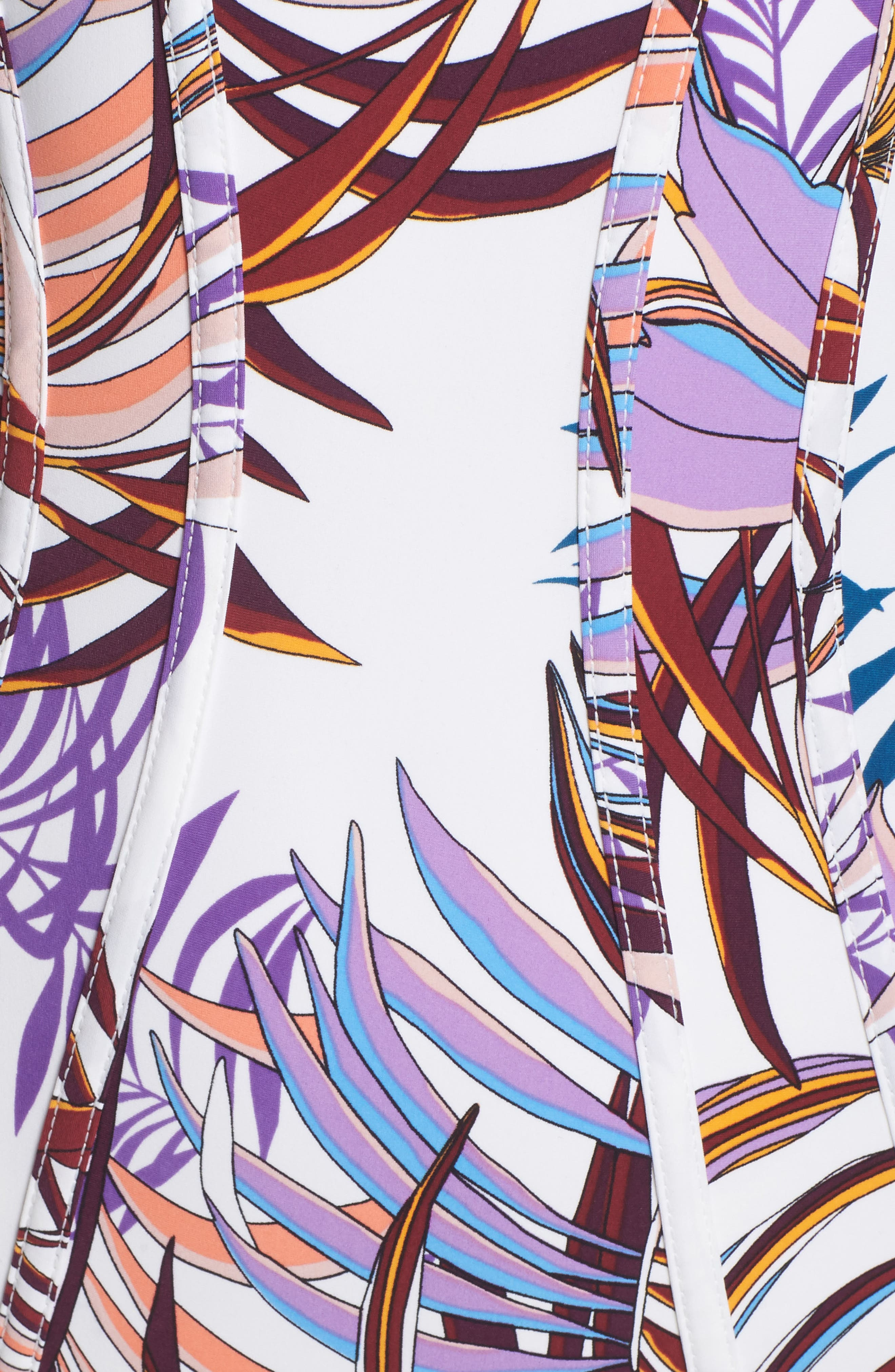 Bontanical Crossback One-Piece Swimsuit,                             Alternate thumbnail 5, color,                             100
