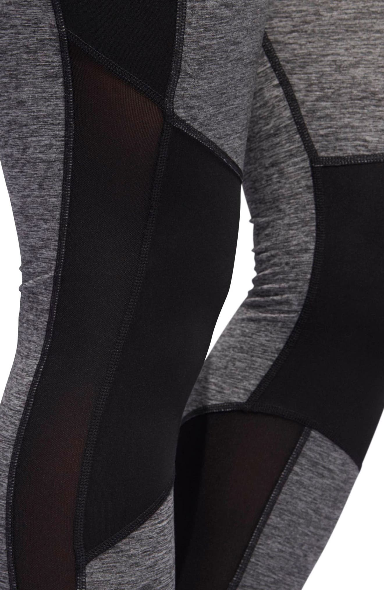 VFA Climalite<sup>®</sup> High Waist Tights,                             Alternate thumbnail 4, color,                             001