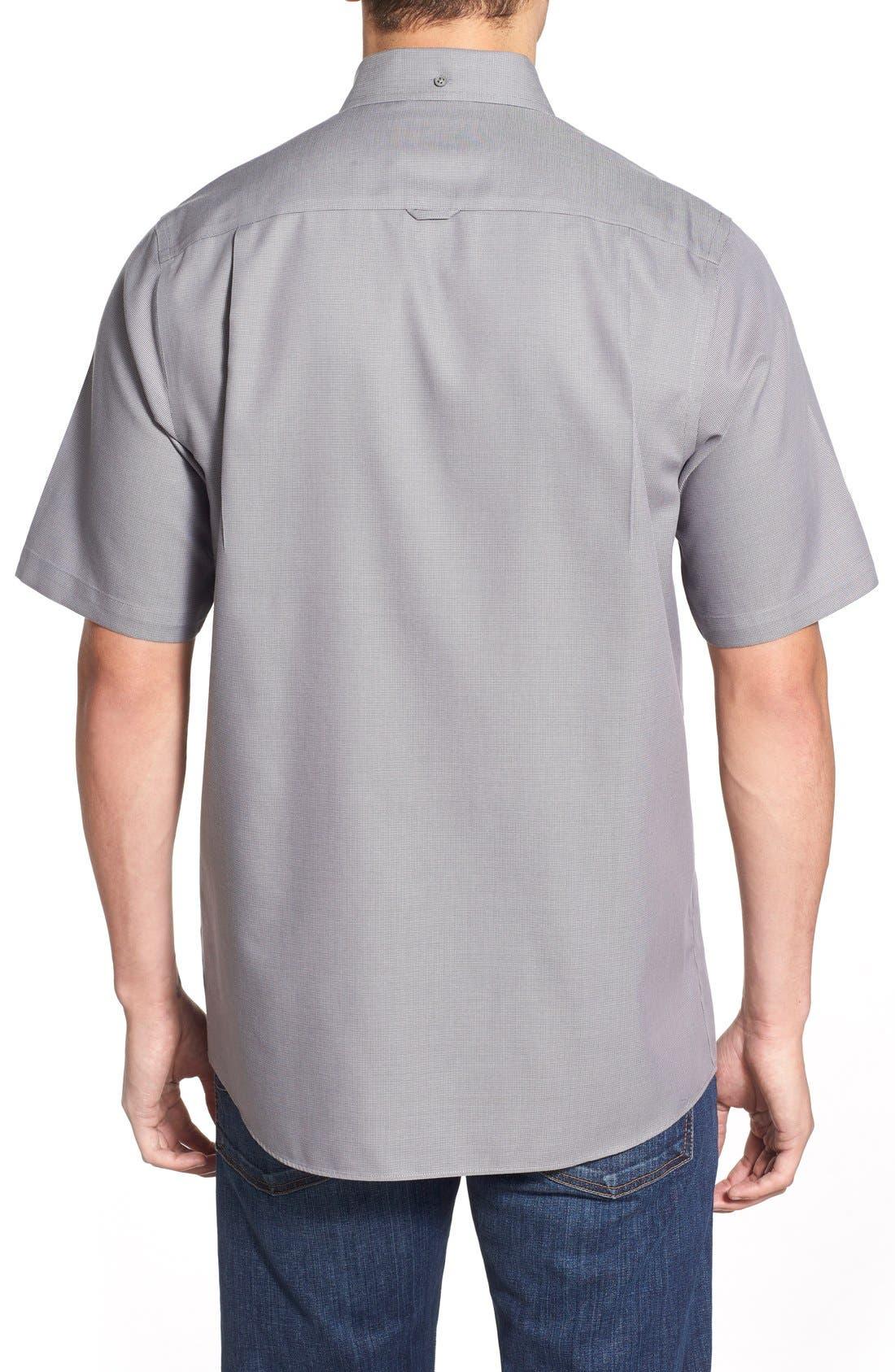 'Classic' Smartcare<sup>™</sup> Regular Fit Short Sleeve Cotton Sport Shirt,                             Alternate thumbnail 65, color,