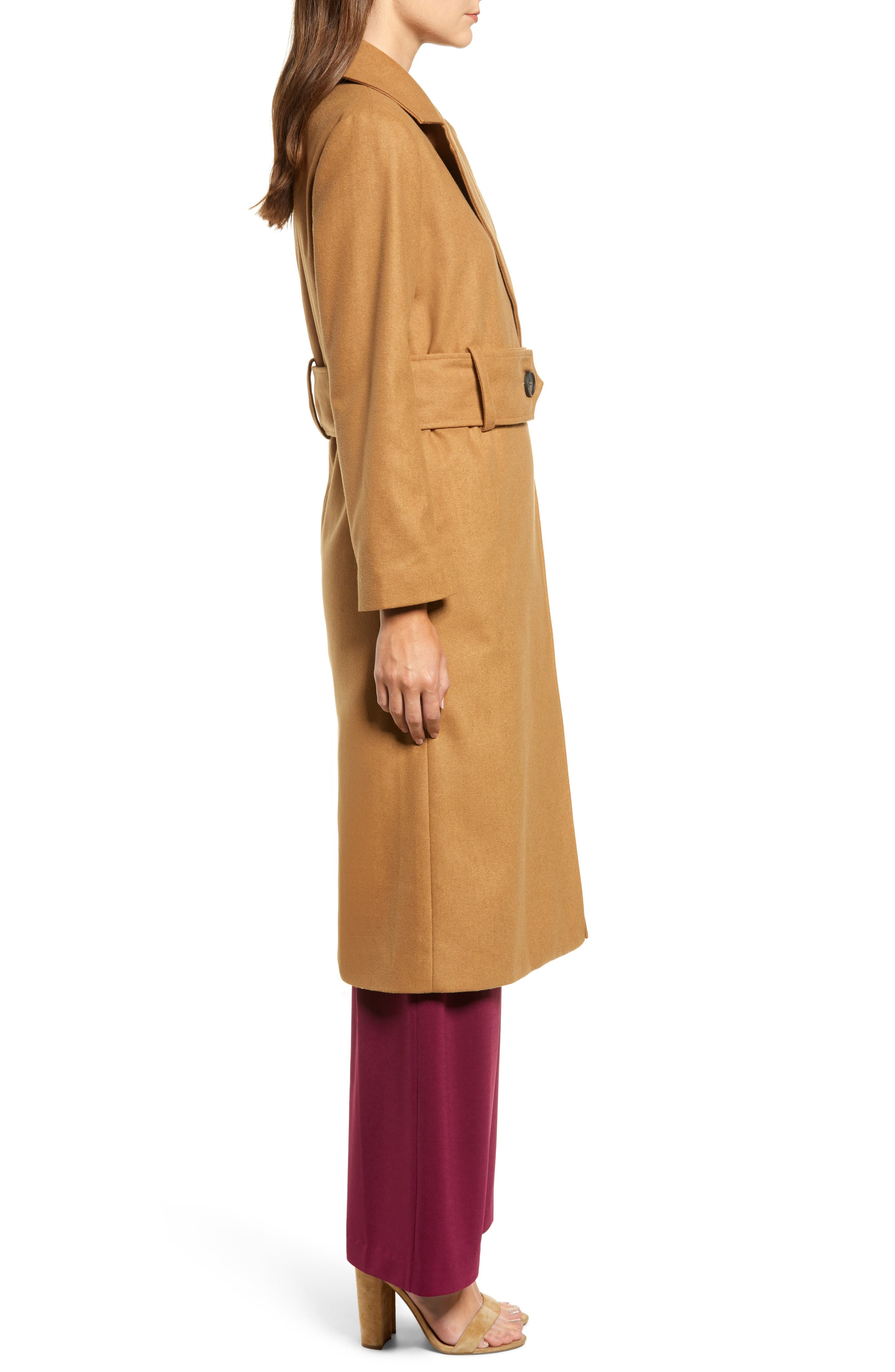 Chriselle Lim Victoria Belted Coat,                             Alternate thumbnail 4, color,                             CAMEL