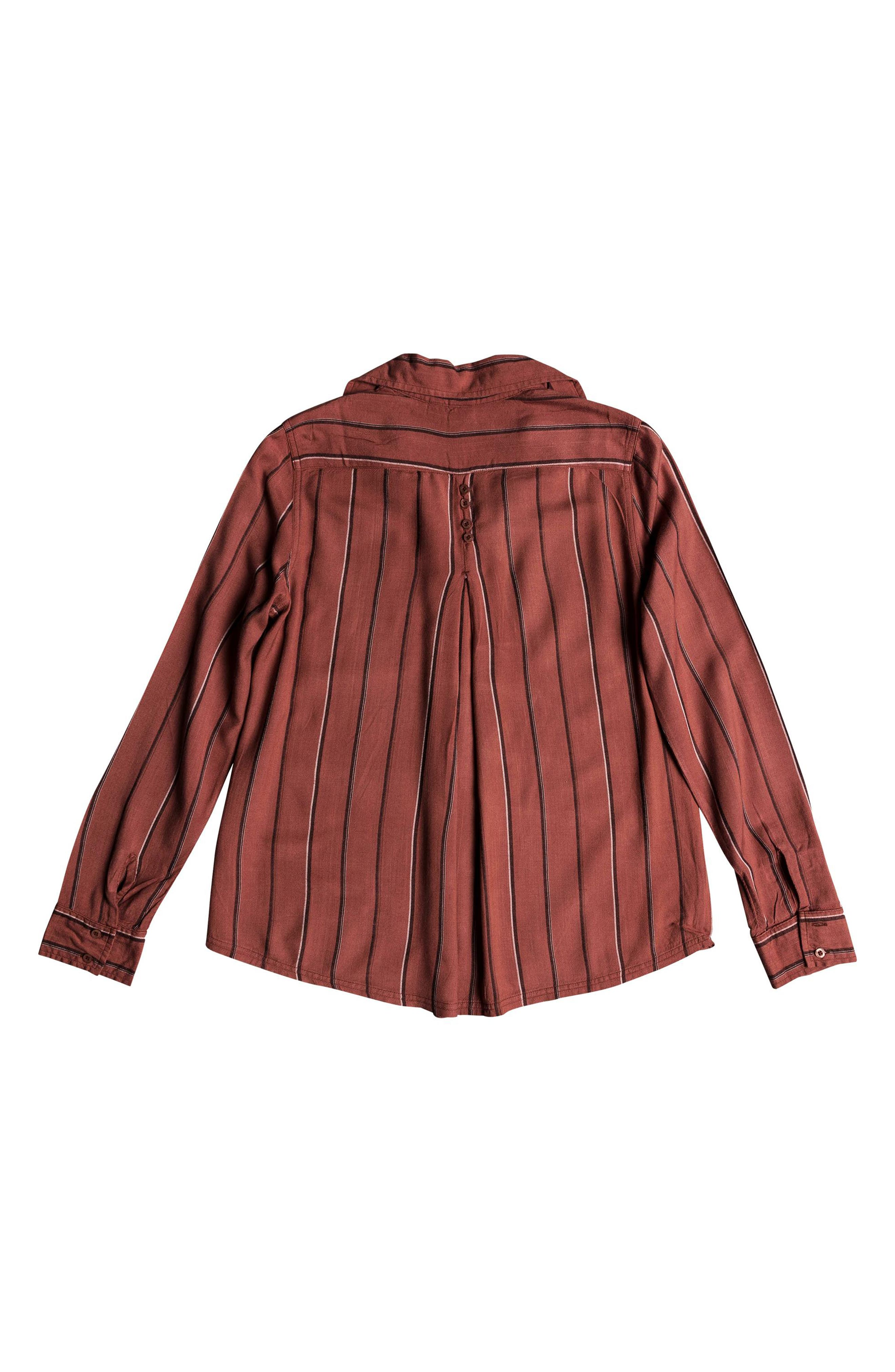 Concrete Streets Stripe Shirt,                             Alternate thumbnail 5, color,                             WITHERED ROSE