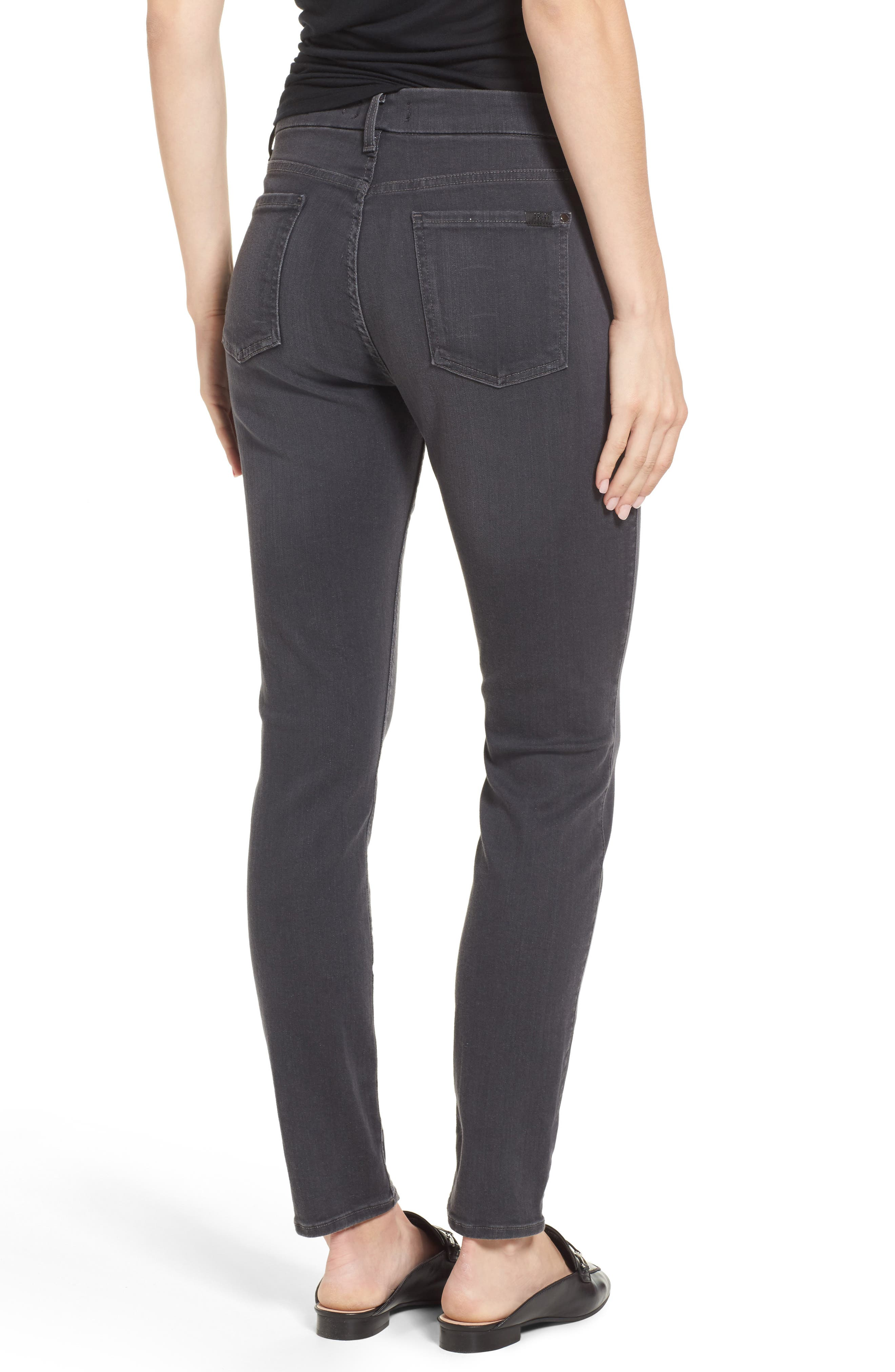 Stretch Skinny Jeans,                             Alternate thumbnail 3, color,                             CLEAN GREY