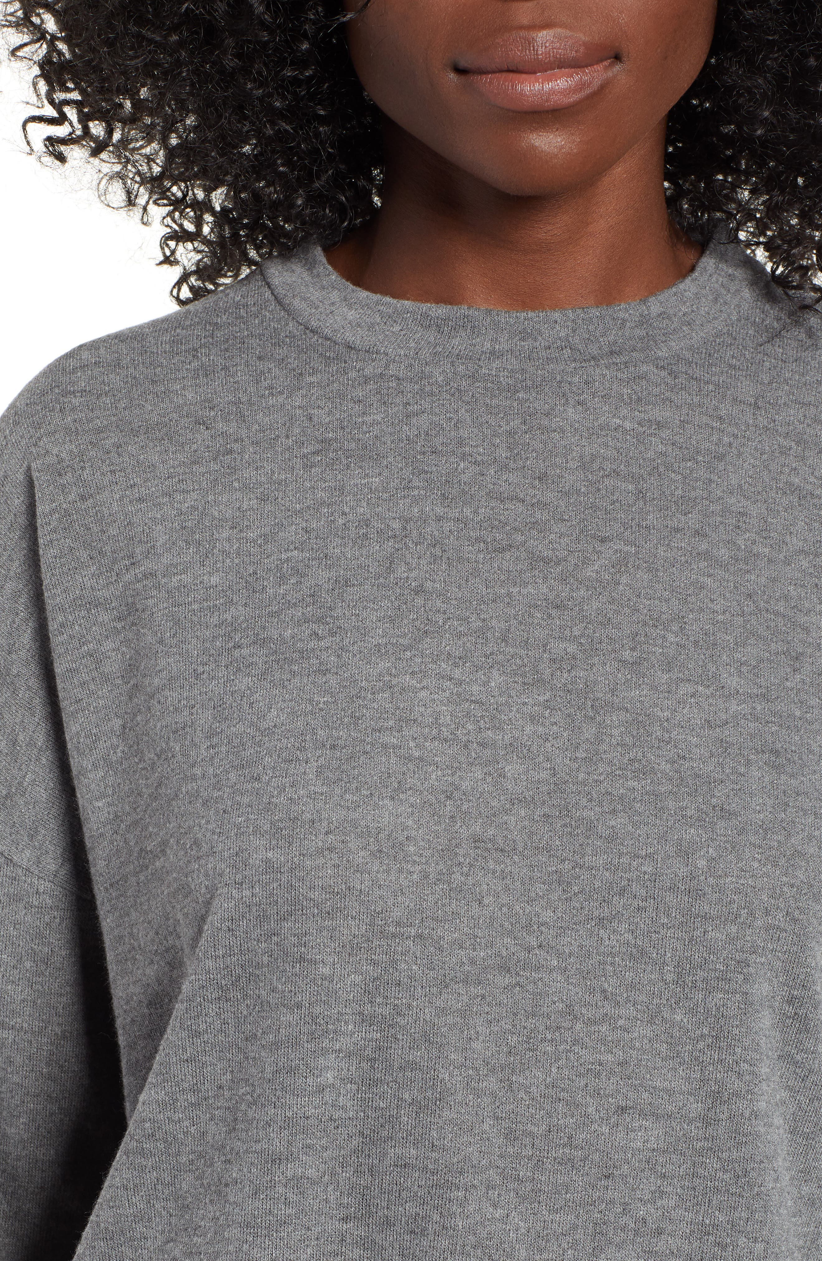 Drop Shoulder Tee,                             Alternate thumbnail 4, color,                             GREY CHARCOAL HEATHER