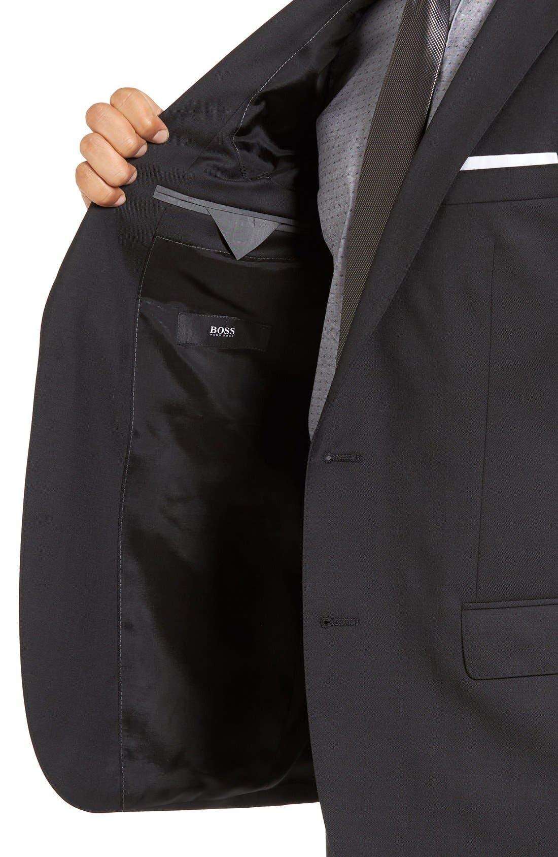 Huge/Genius Trim Fit Wool Suit,                             Alternate thumbnail 7, color,                             021