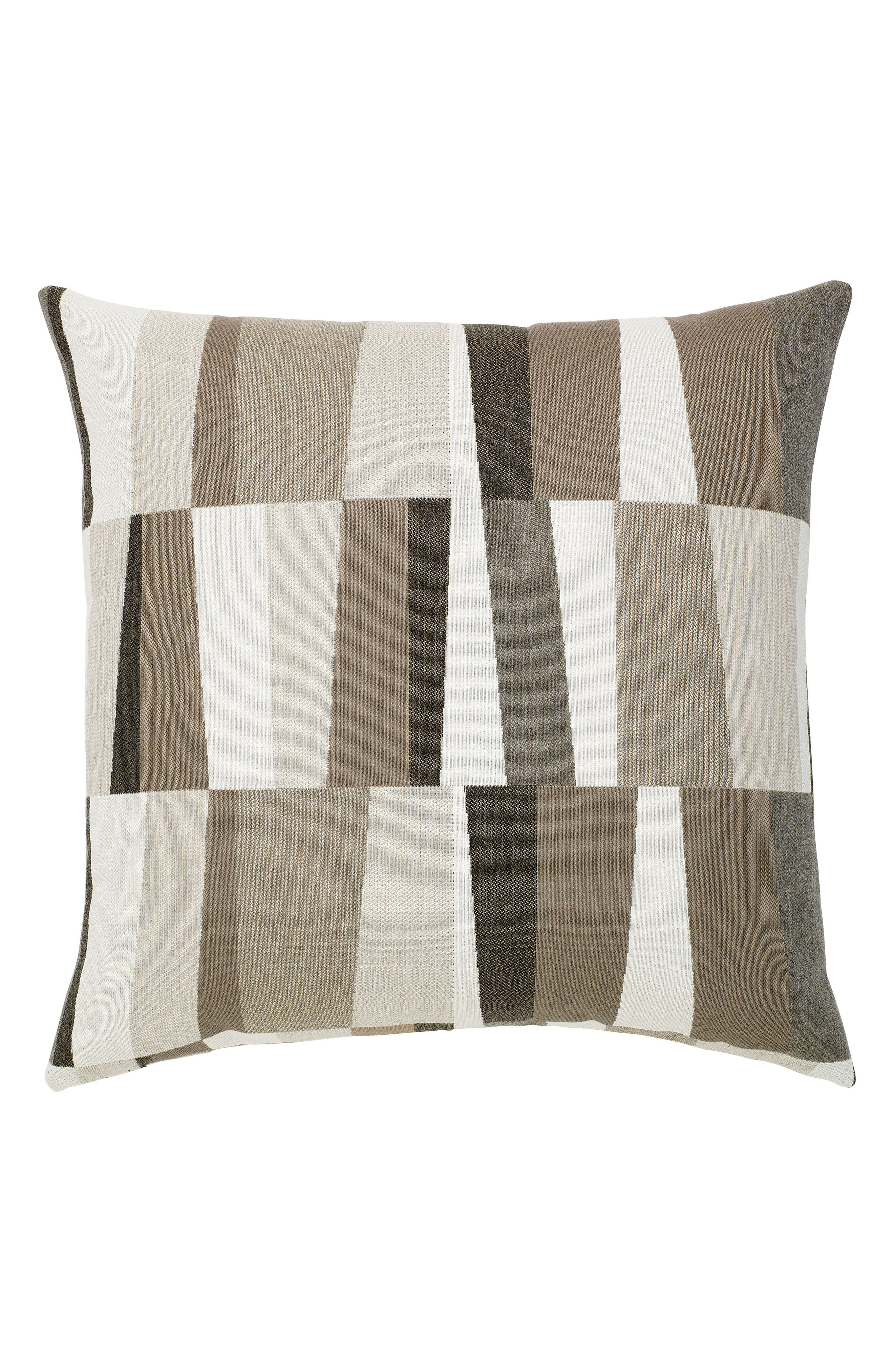 Strata Grigio Indoor/Outdoor Accent Pillow,                             Main thumbnail 1, color,                             GREY/ BROWN