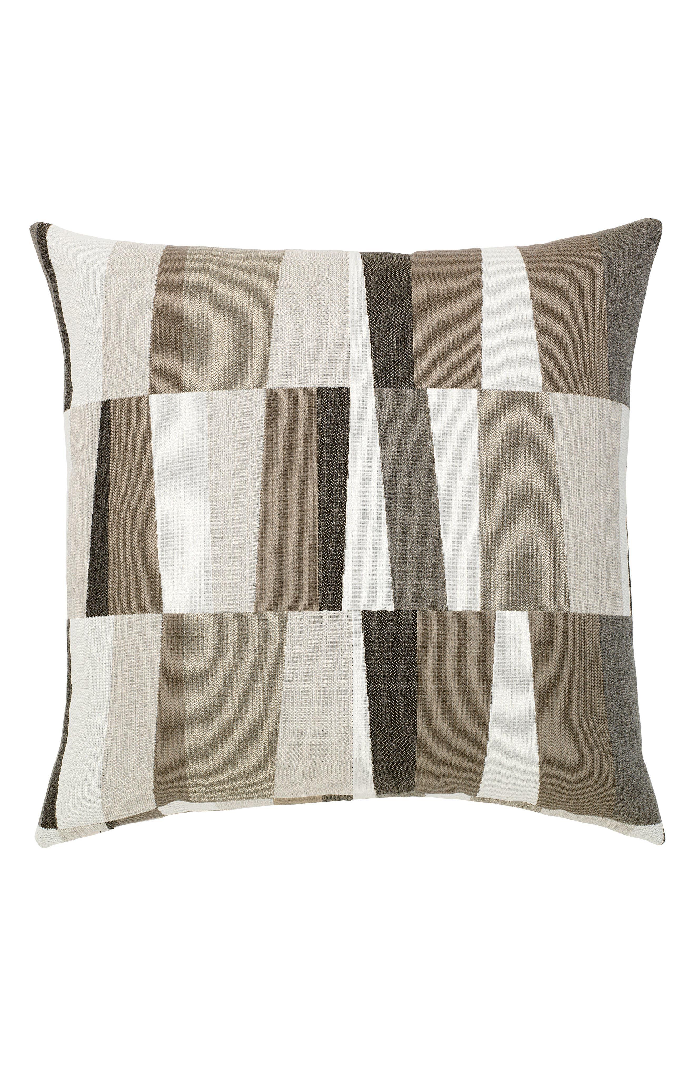Strata Grigio Indoor/Outdoor Accent Pillow,                         Main,                         color, GREY/ BROWN