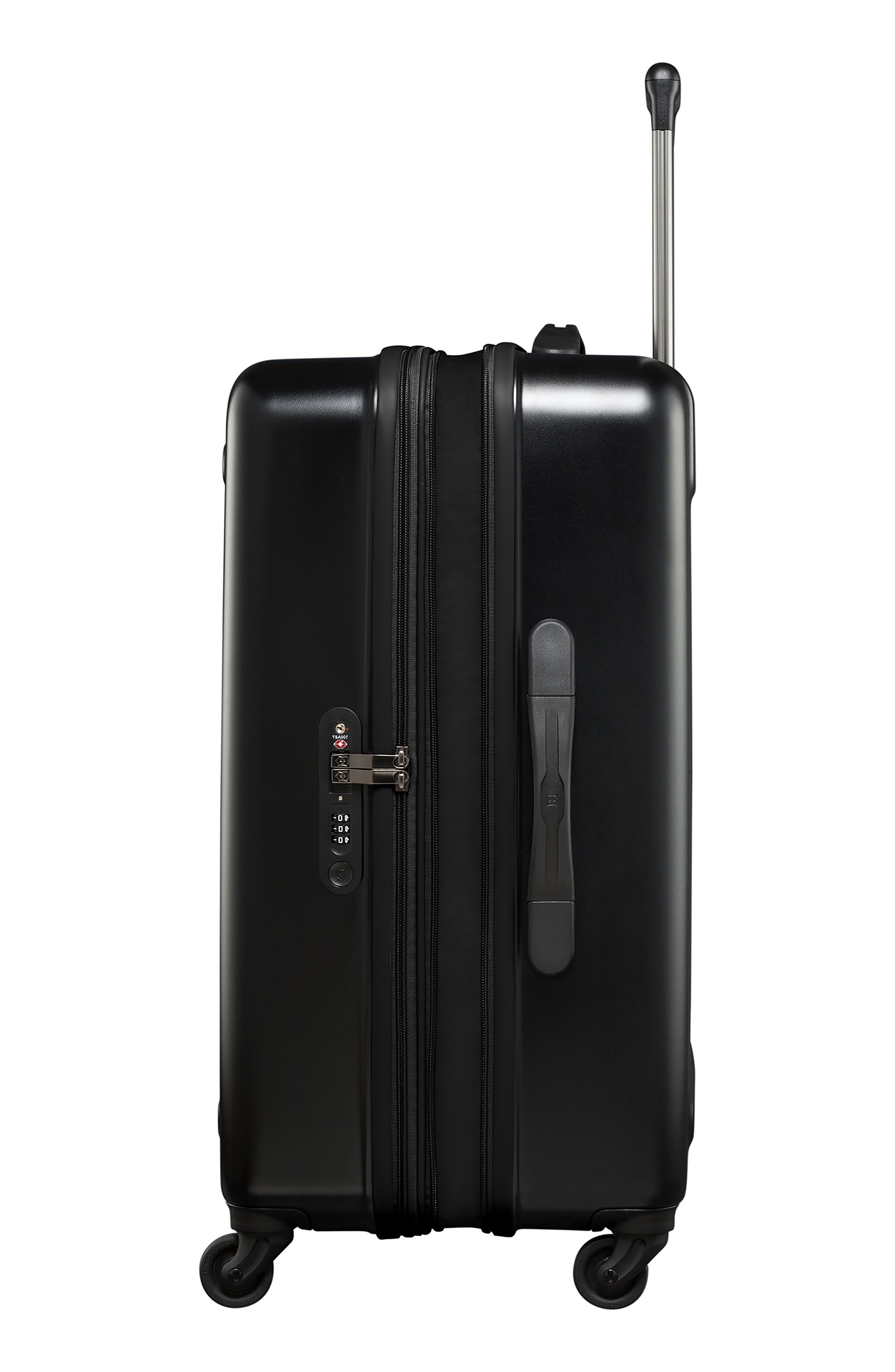 Etherius 27-Inch Wheeled Suitcase,                             Alternate thumbnail 3, color,                             BLACK