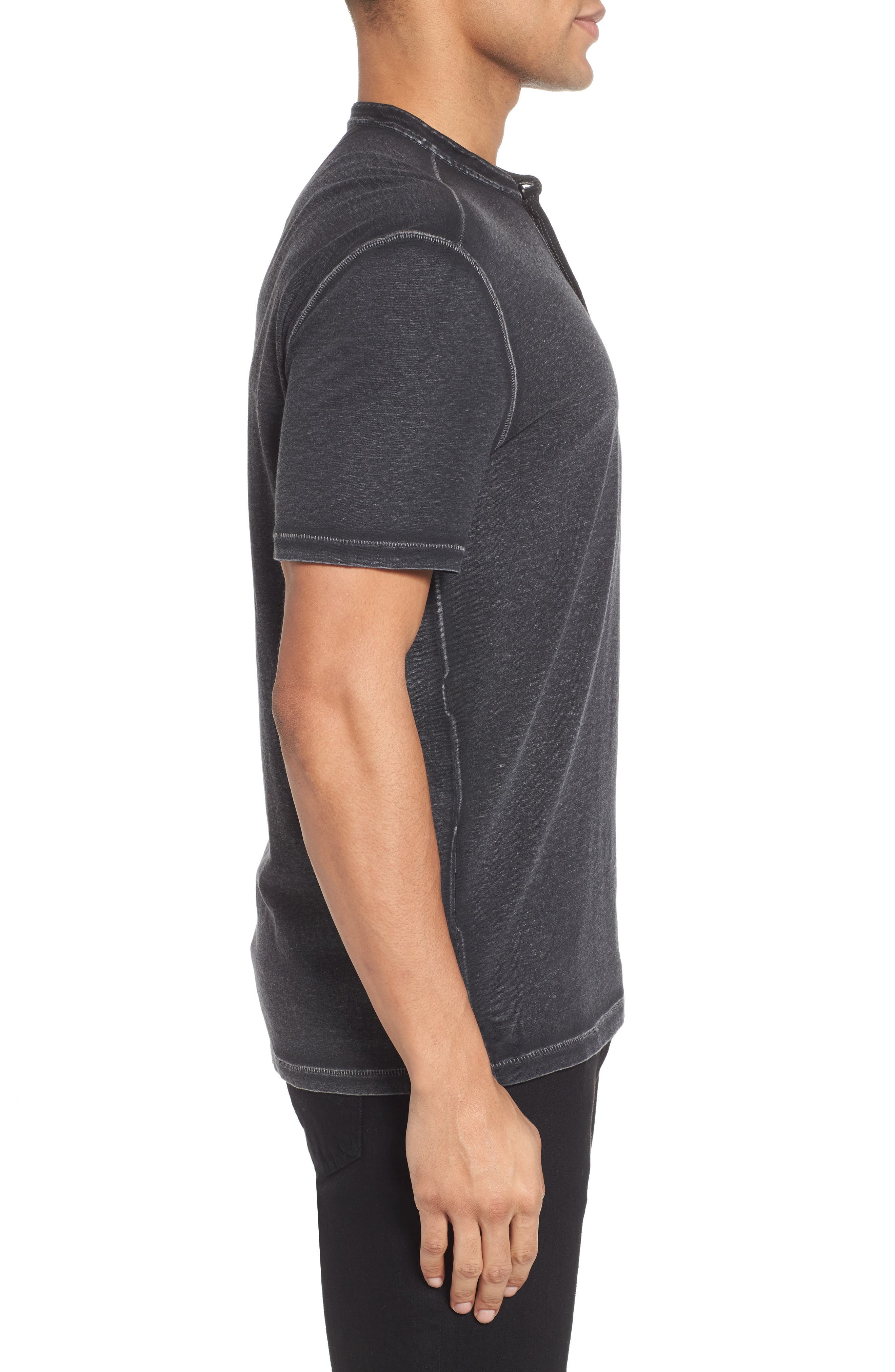 Regular Fit Cotton Henley,                             Alternate thumbnail 3, color,                             020