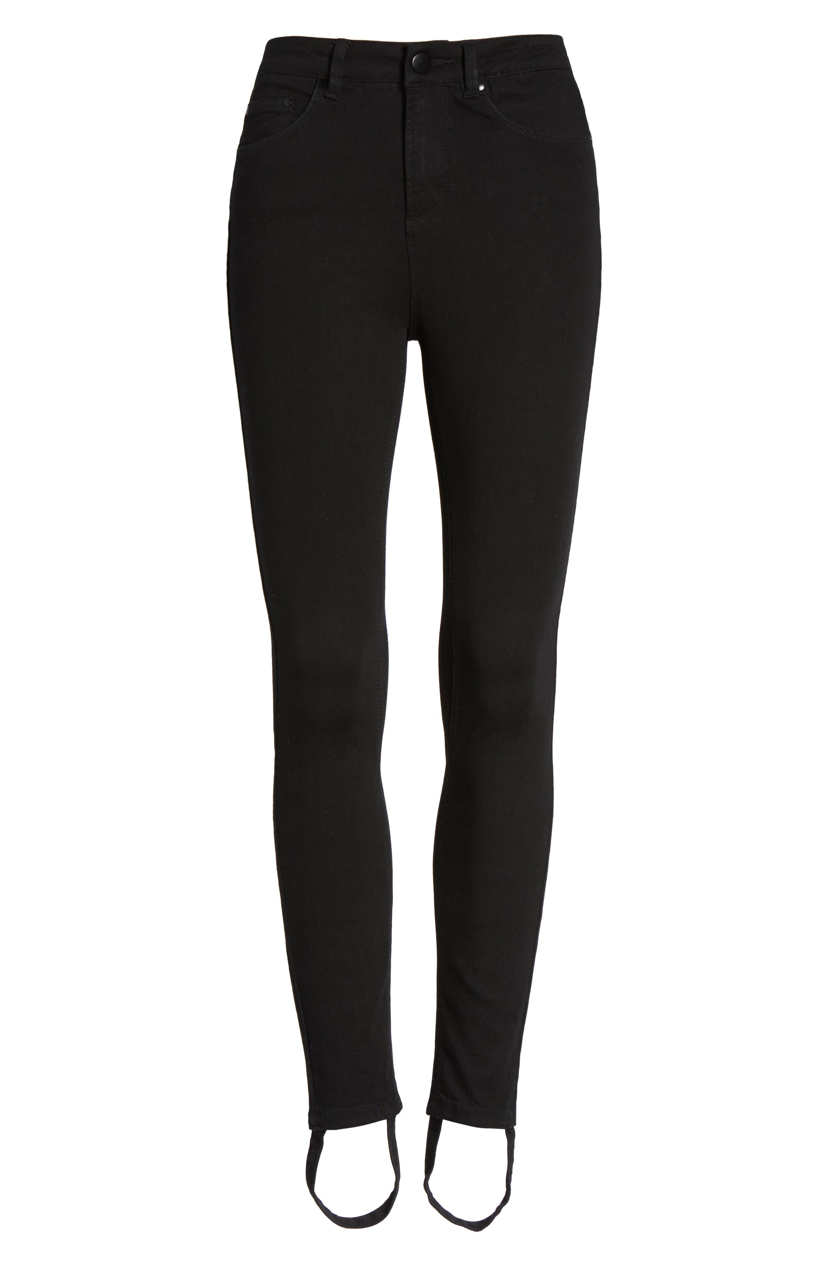Luma High Waist Skinny Stirrup Jeans,                             Alternate thumbnail 6, color,                             002
