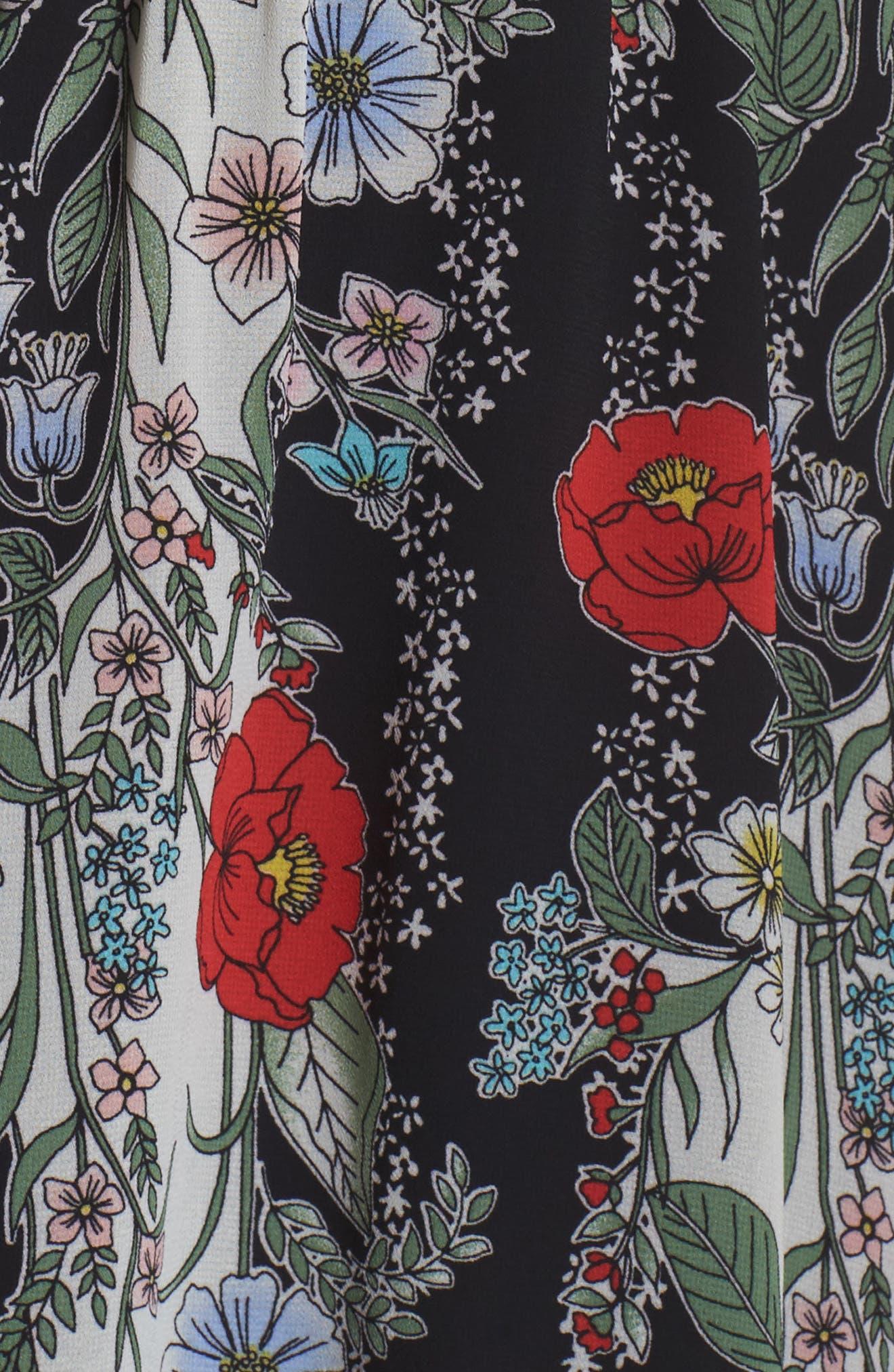 Lidia Tie Front Dress,                             Alternate thumbnail 6, color,                             LIDIA
