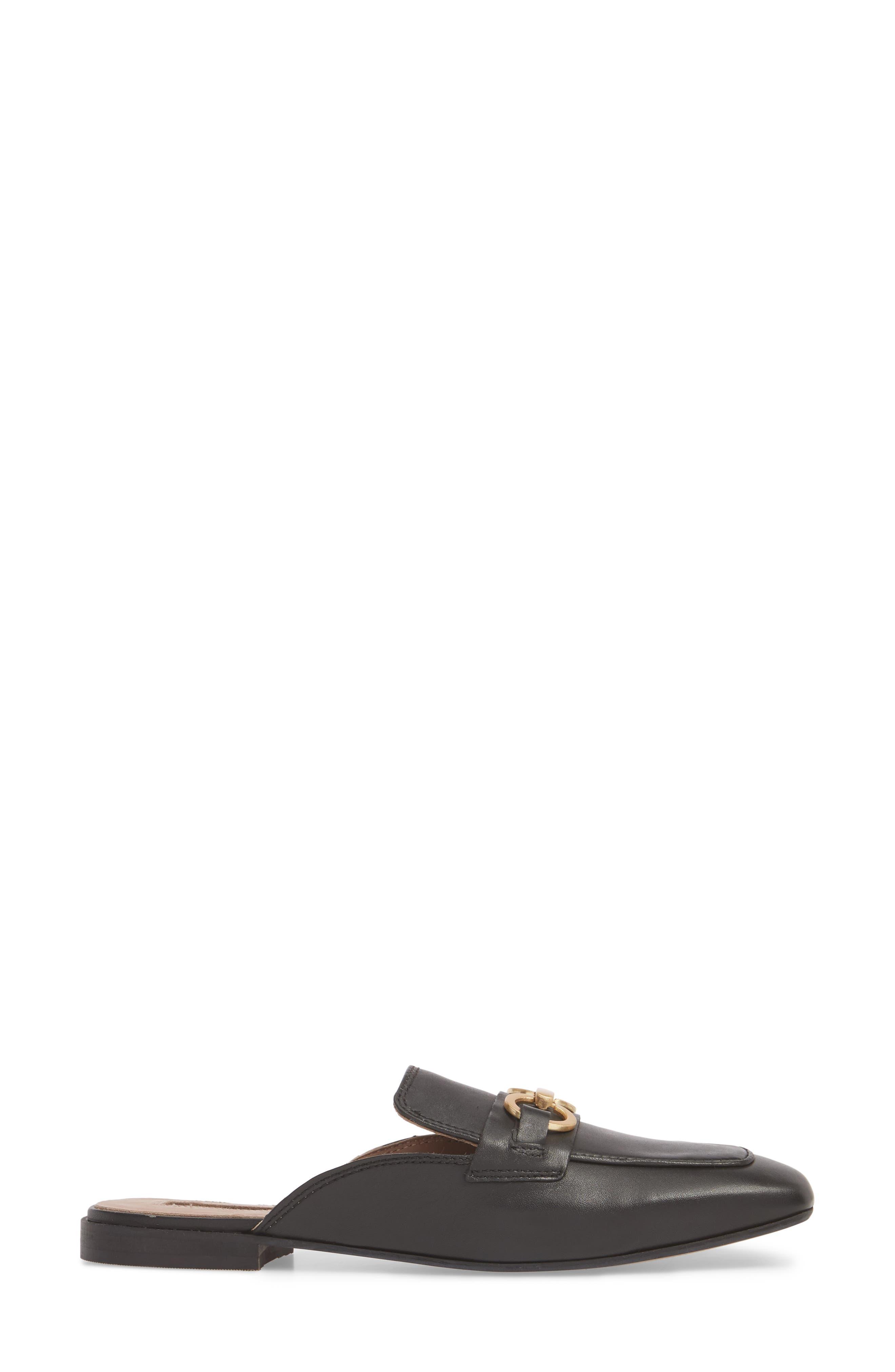 Kale Trim Loafer Mule,                             Alternate thumbnail 3, color,                             BLACK