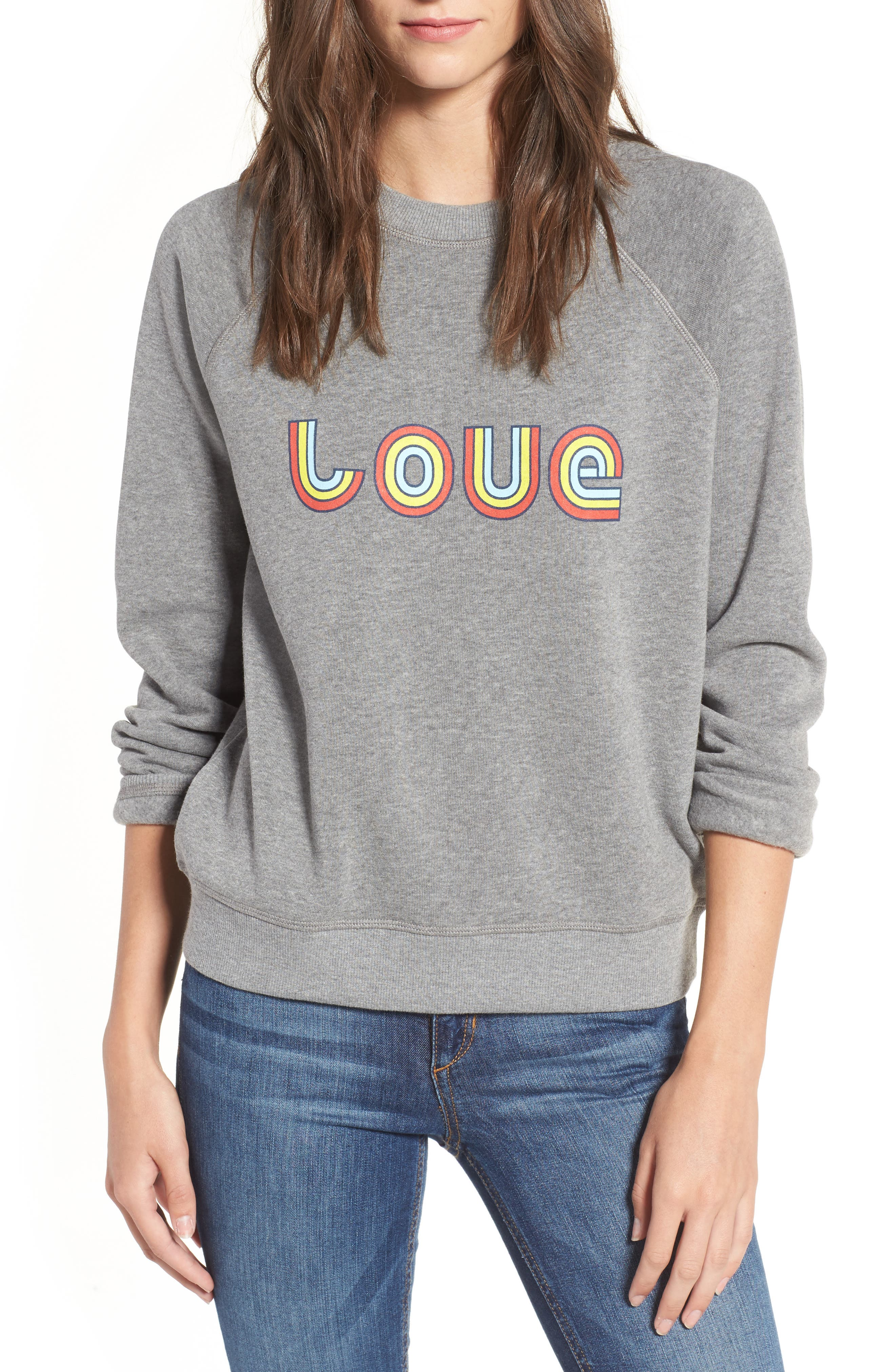 Love Sweatshirt,                             Main thumbnail 1, color,                             030