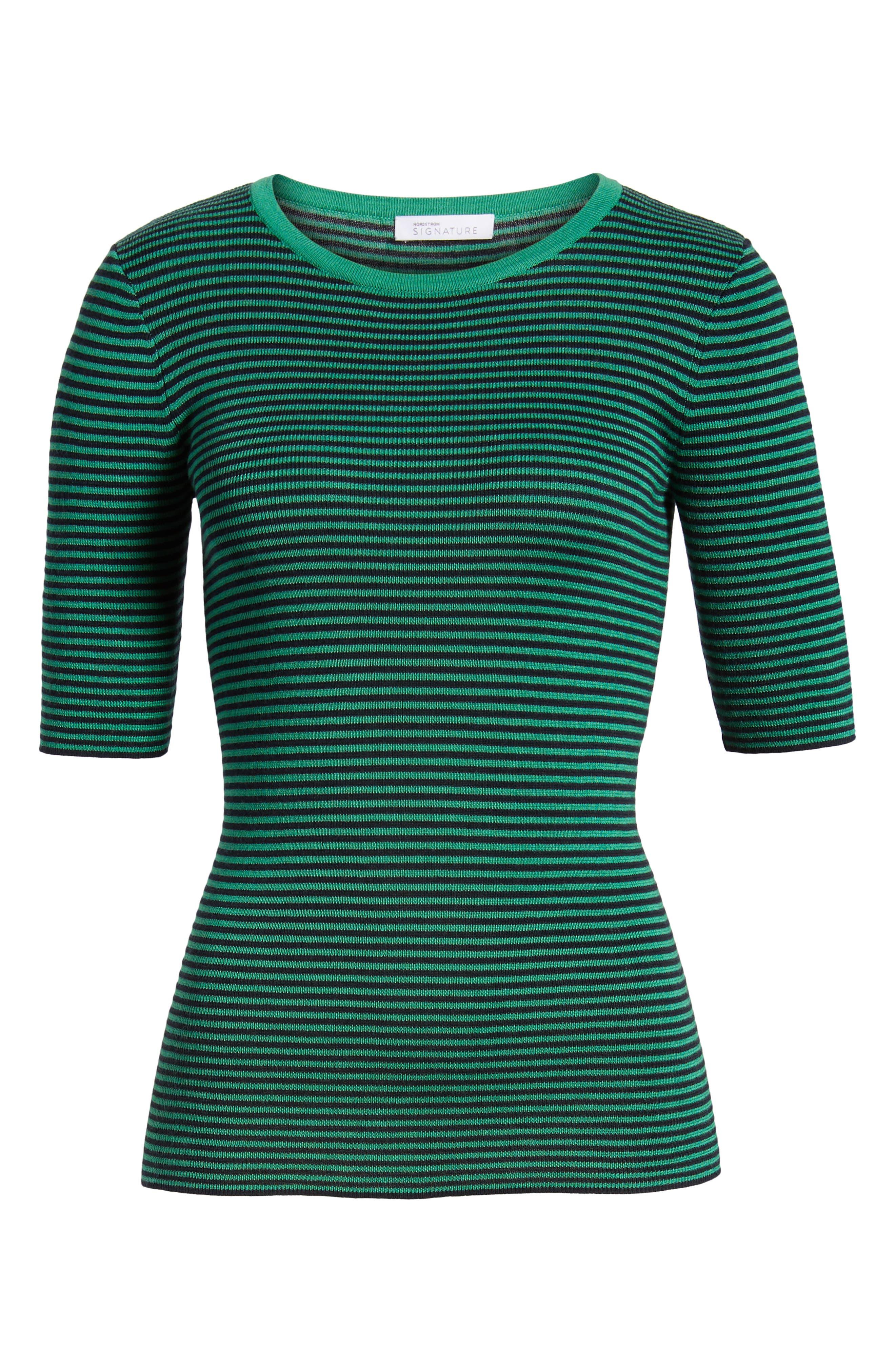 Stripe Crewneck Sweater,                             Alternate thumbnail 7, color,                             315