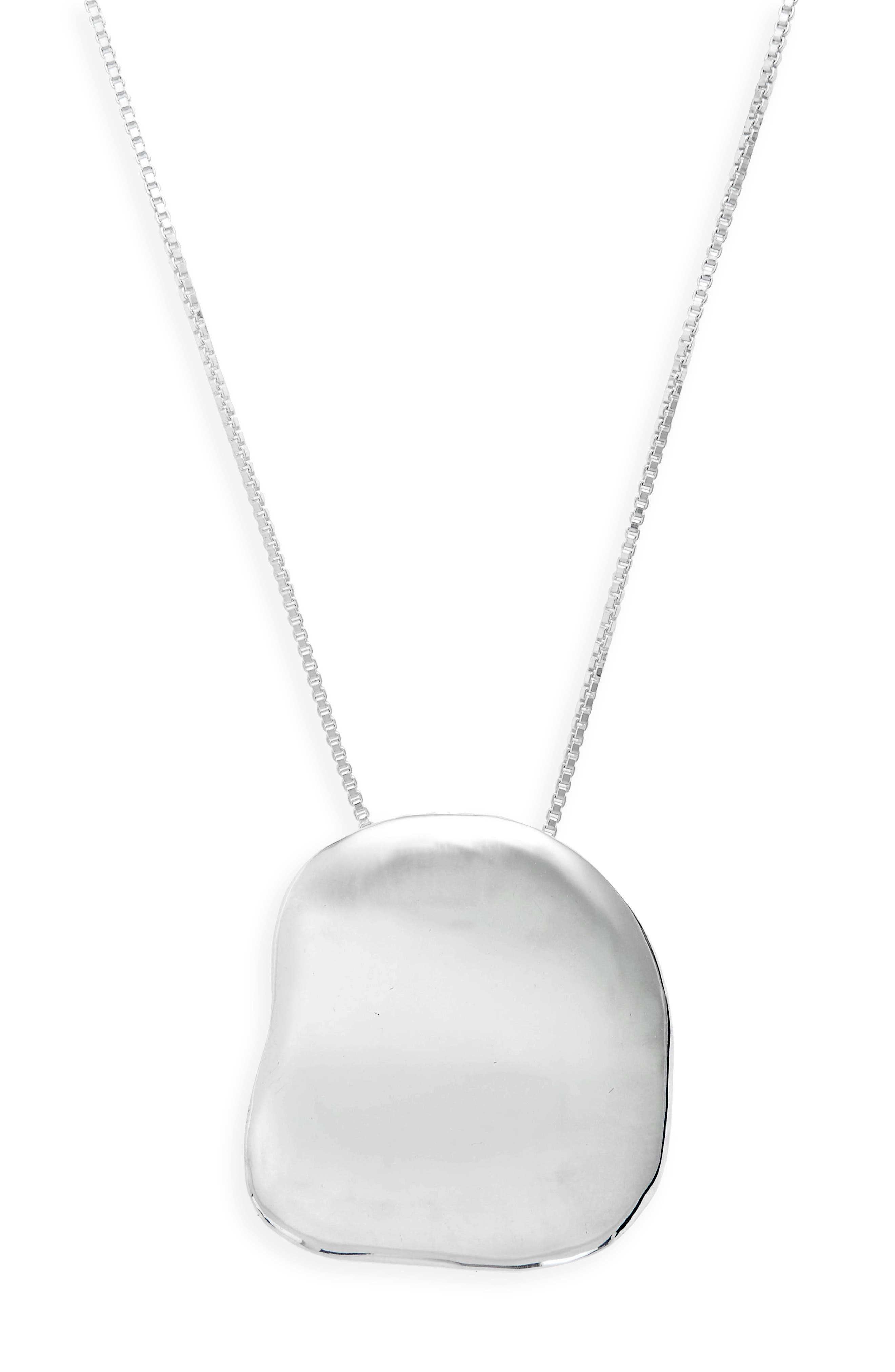 Big Dip Pendant Necklace,                             Alternate thumbnail 2, color,                             STERLING SILVER