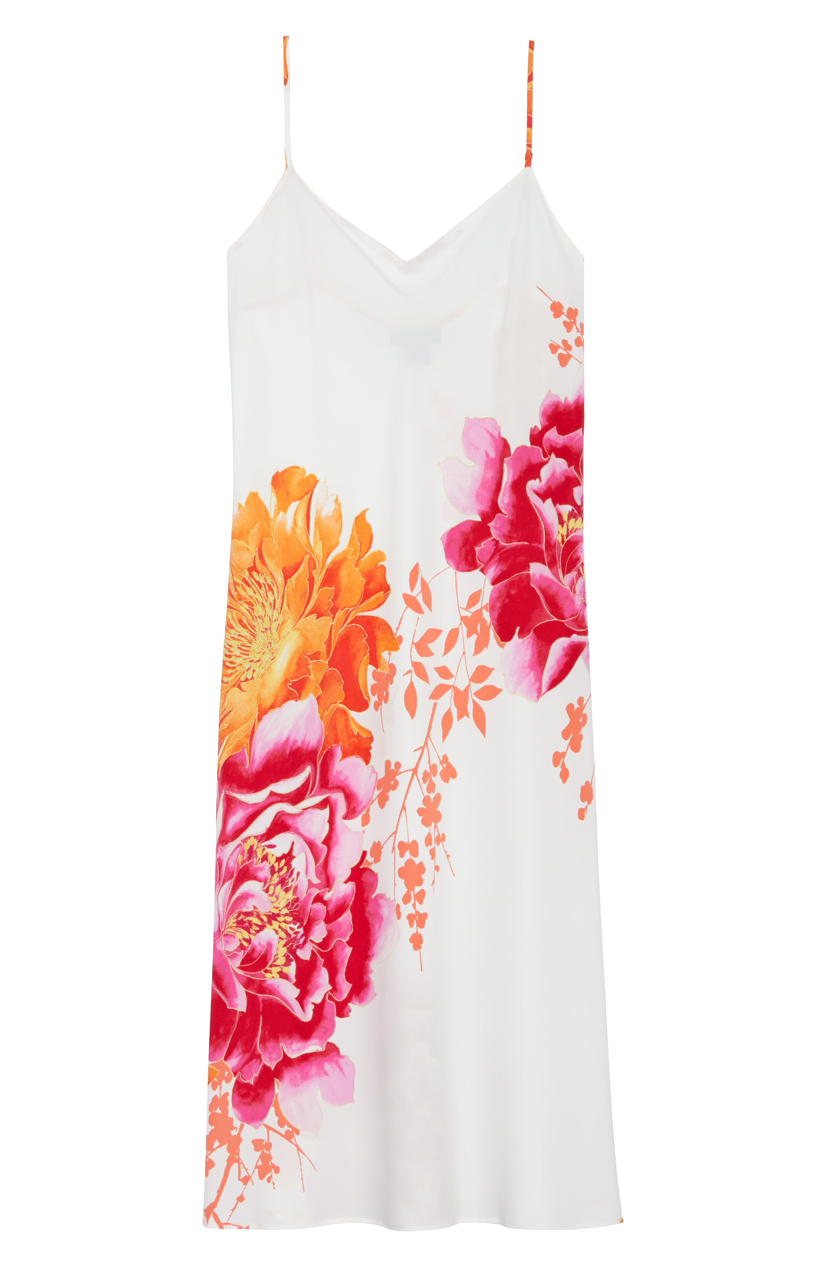 Bali Floral Print Slip,                             Alternate thumbnail 6, color,                             100