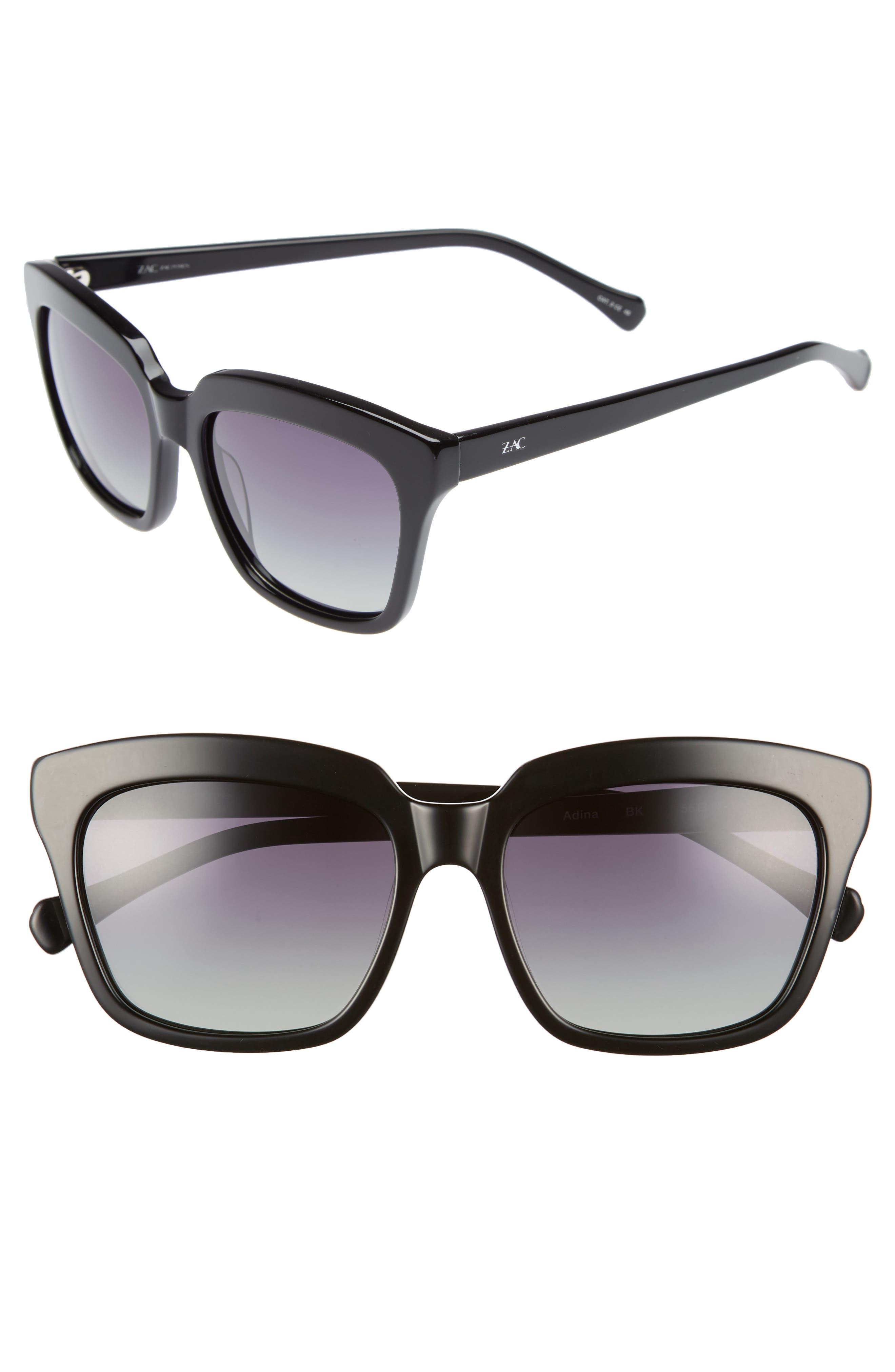 Adina 56mm Polarized Sunglasses,                         Main,                         color, 001