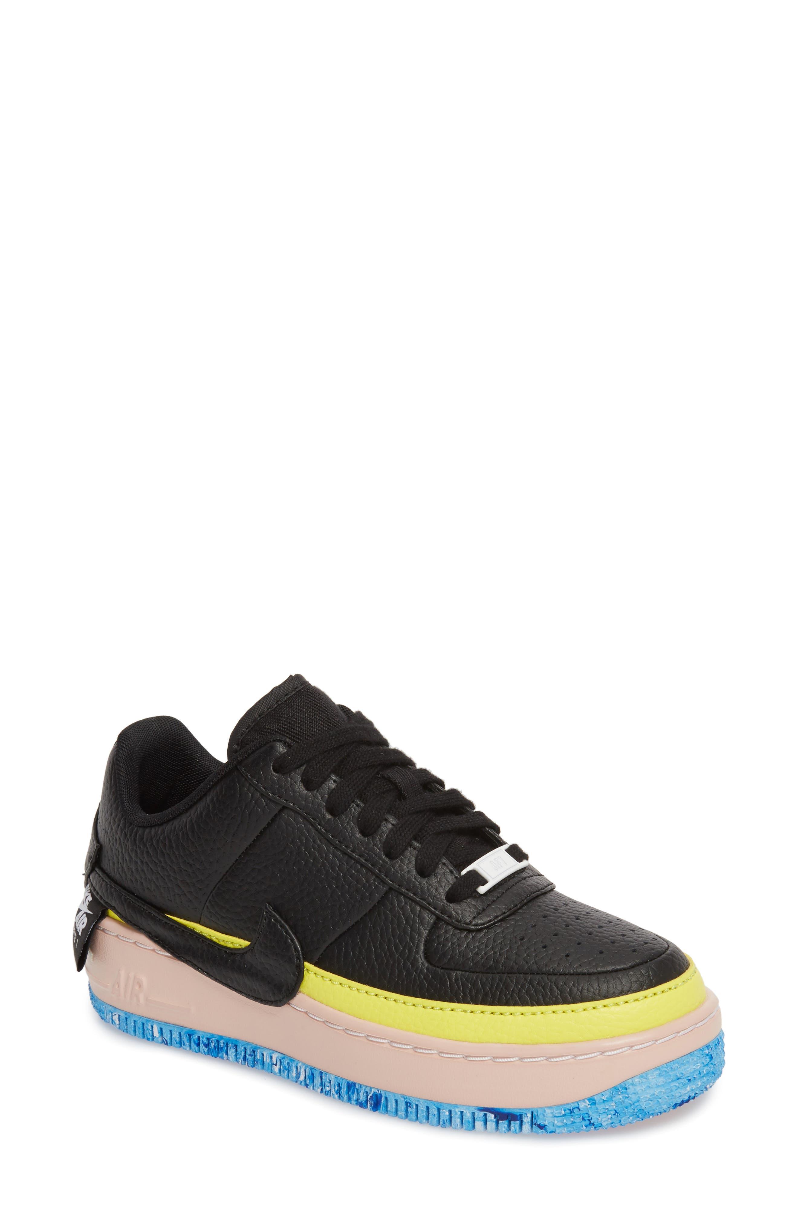 Air Force 1 Jester XX Sneaker,                             Main thumbnail 1, color,                             BLACK/ SONIC YELLOW/ ORANGE