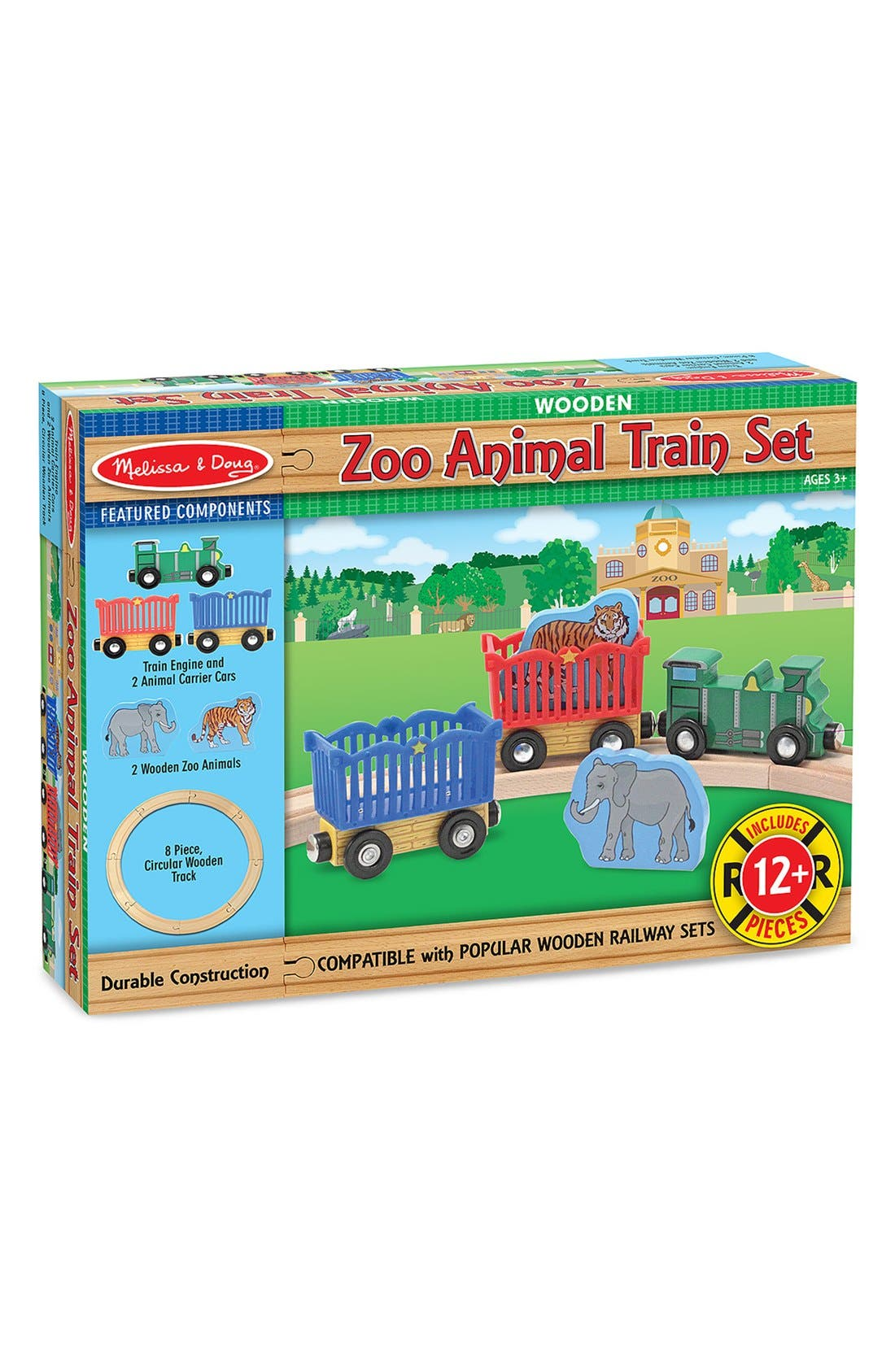 Zoo Animal Train Set,                             Alternate thumbnail 2, color,                             MULTI