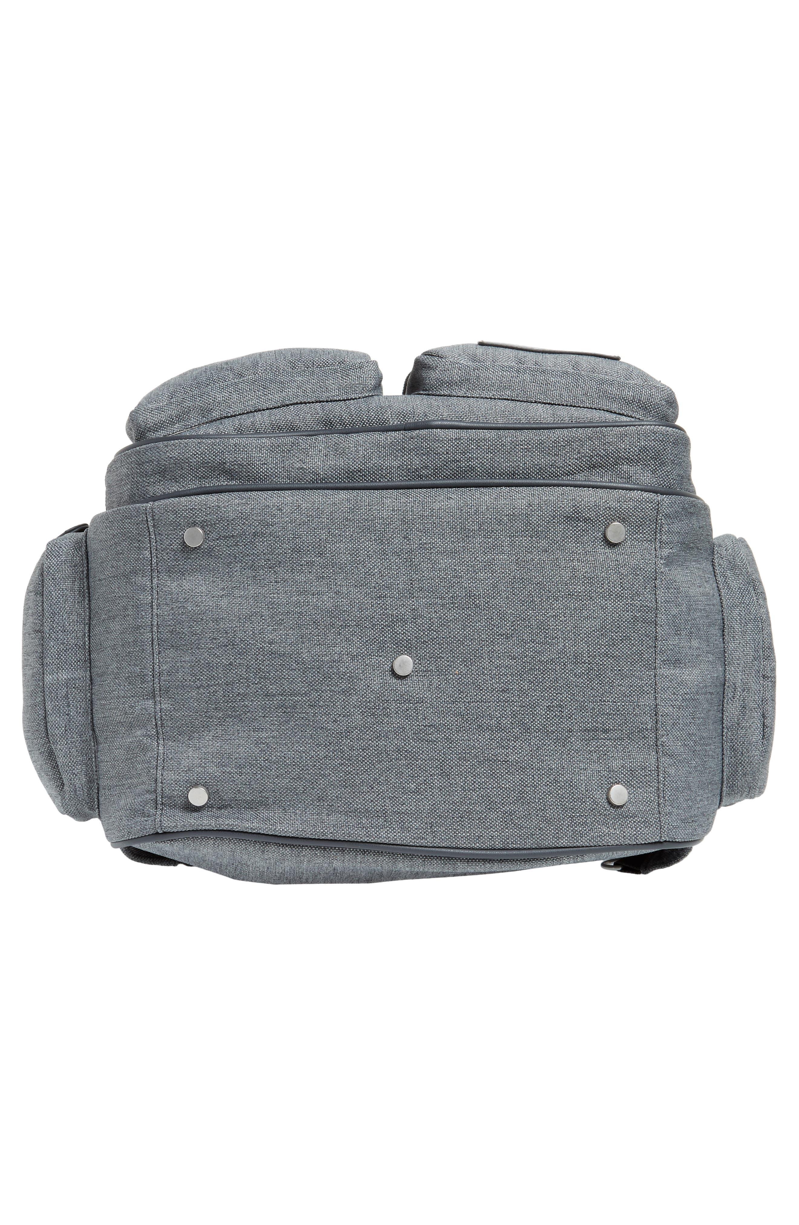 Glober Water Resistant Diaper Backpack,                             Alternate thumbnail 7, color,                             SMOKEY