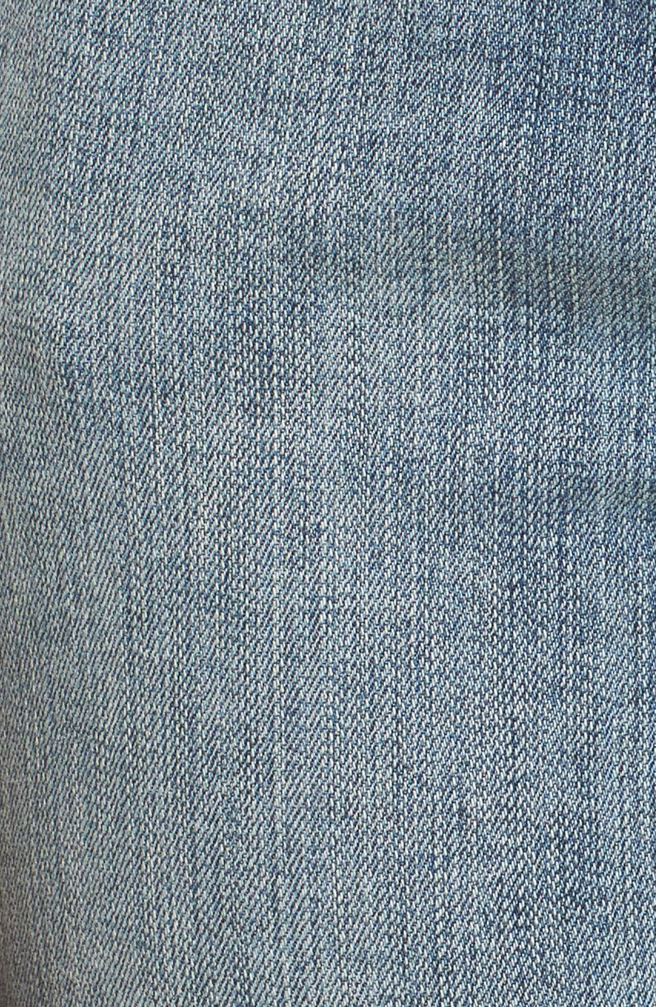 Embroidered Seam Boyfriend Denim Shorts,                             Alternate thumbnail 5, color,                             420