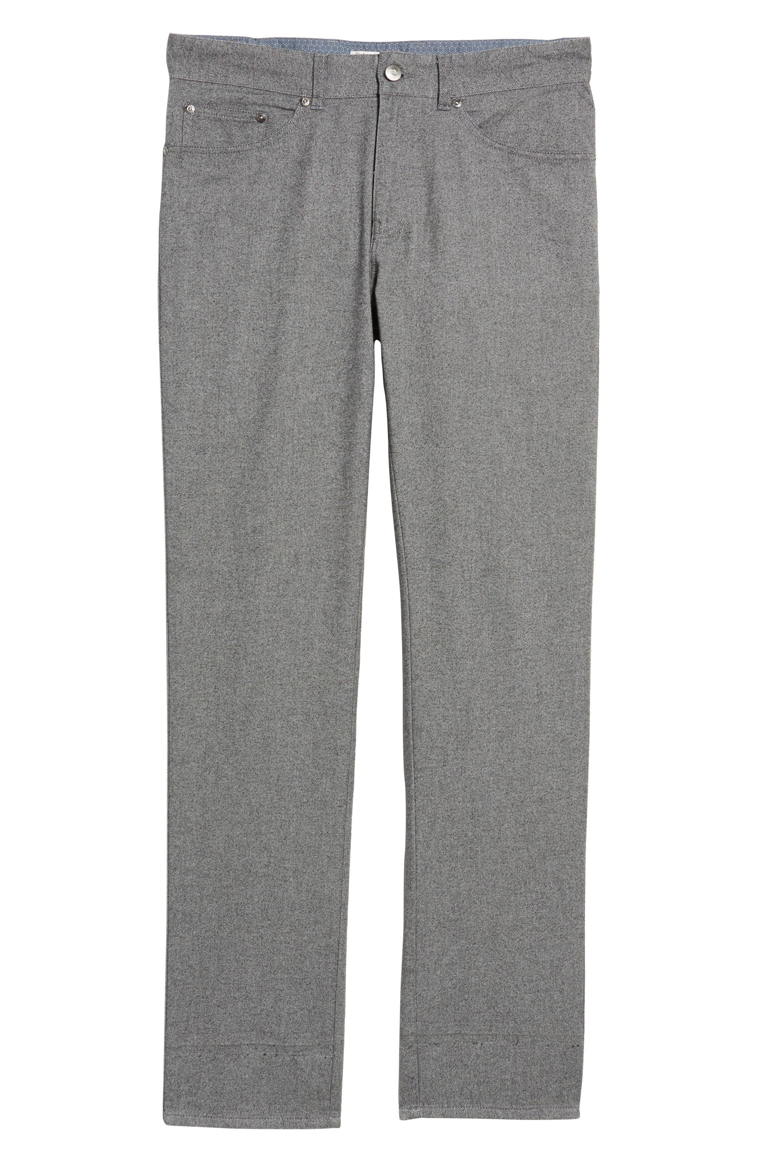 Mountainside Flannel Five-Pocket Pants,                             Alternate thumbnail 6, color,                             033