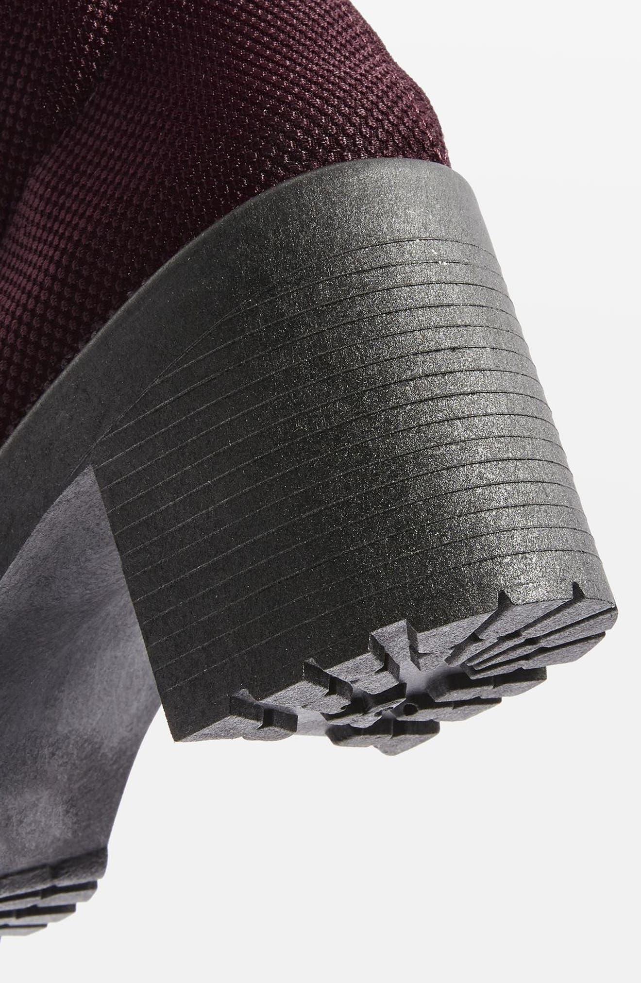 Brick Knit Sock Bootie,                             Alternate thumbnail 3, color,