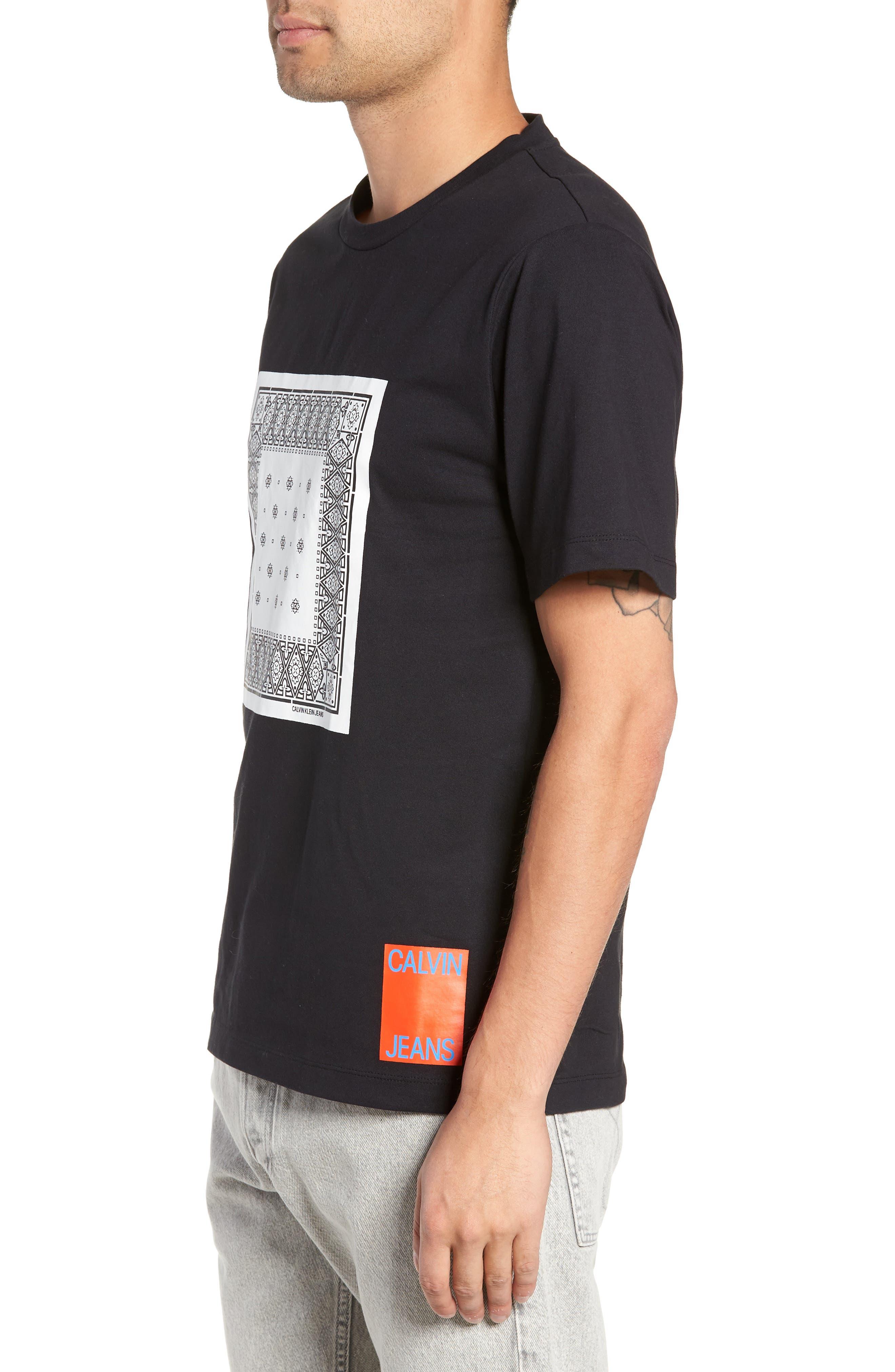 Bandanna Graphic T-Shirt,                             Alternate thumbnail 3, color,                             BLACK