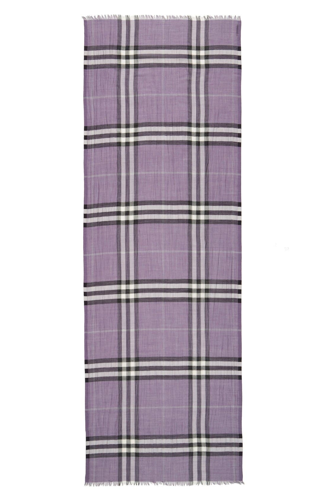 Giant Check Print Wool & Silk Scarf,                             Alternate thumbnail 104, color,