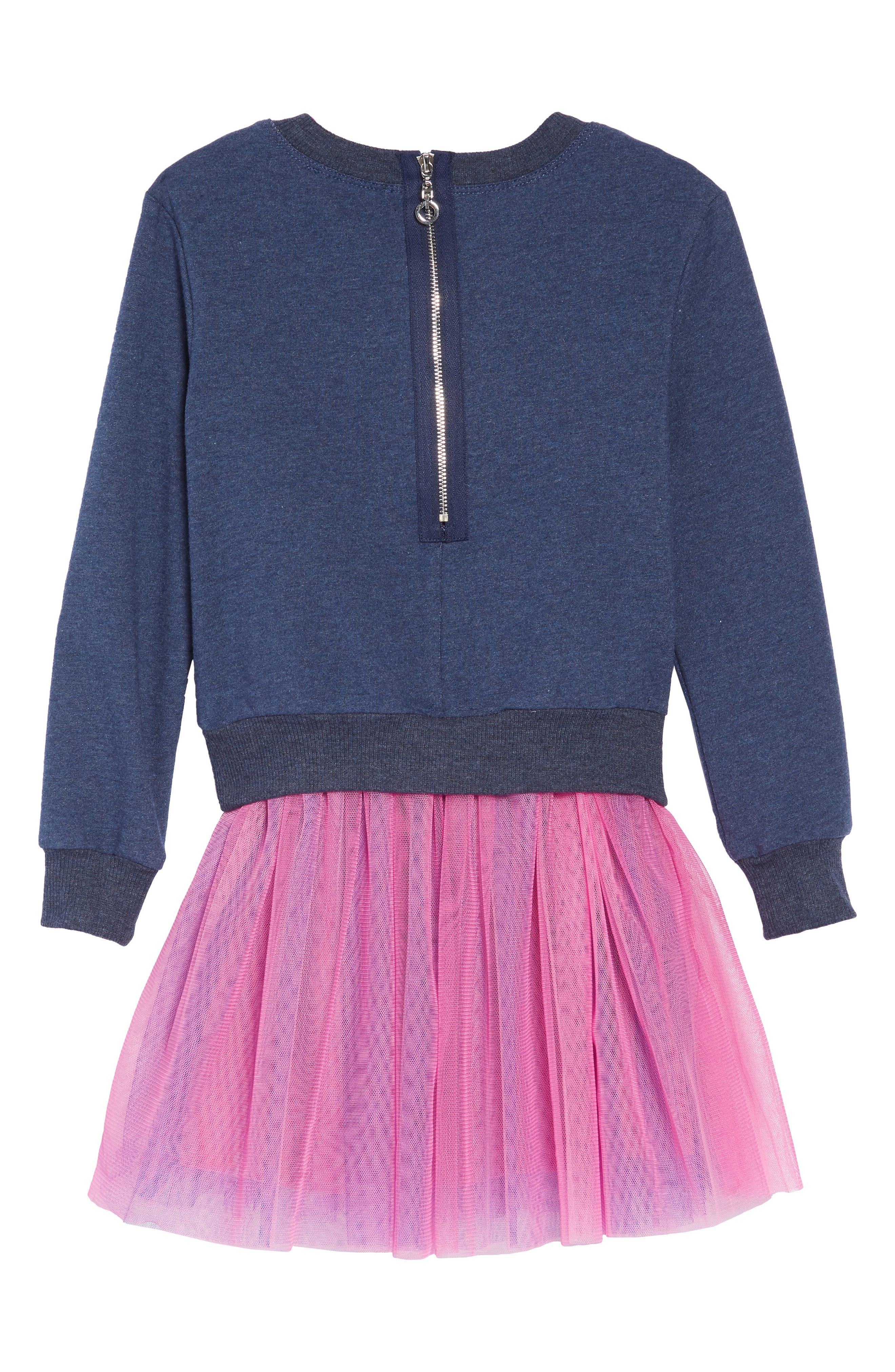 Appliqué Top & Tutu Dress Set,                             Alternate thumbnail 3, color,                             NAVY-PINK