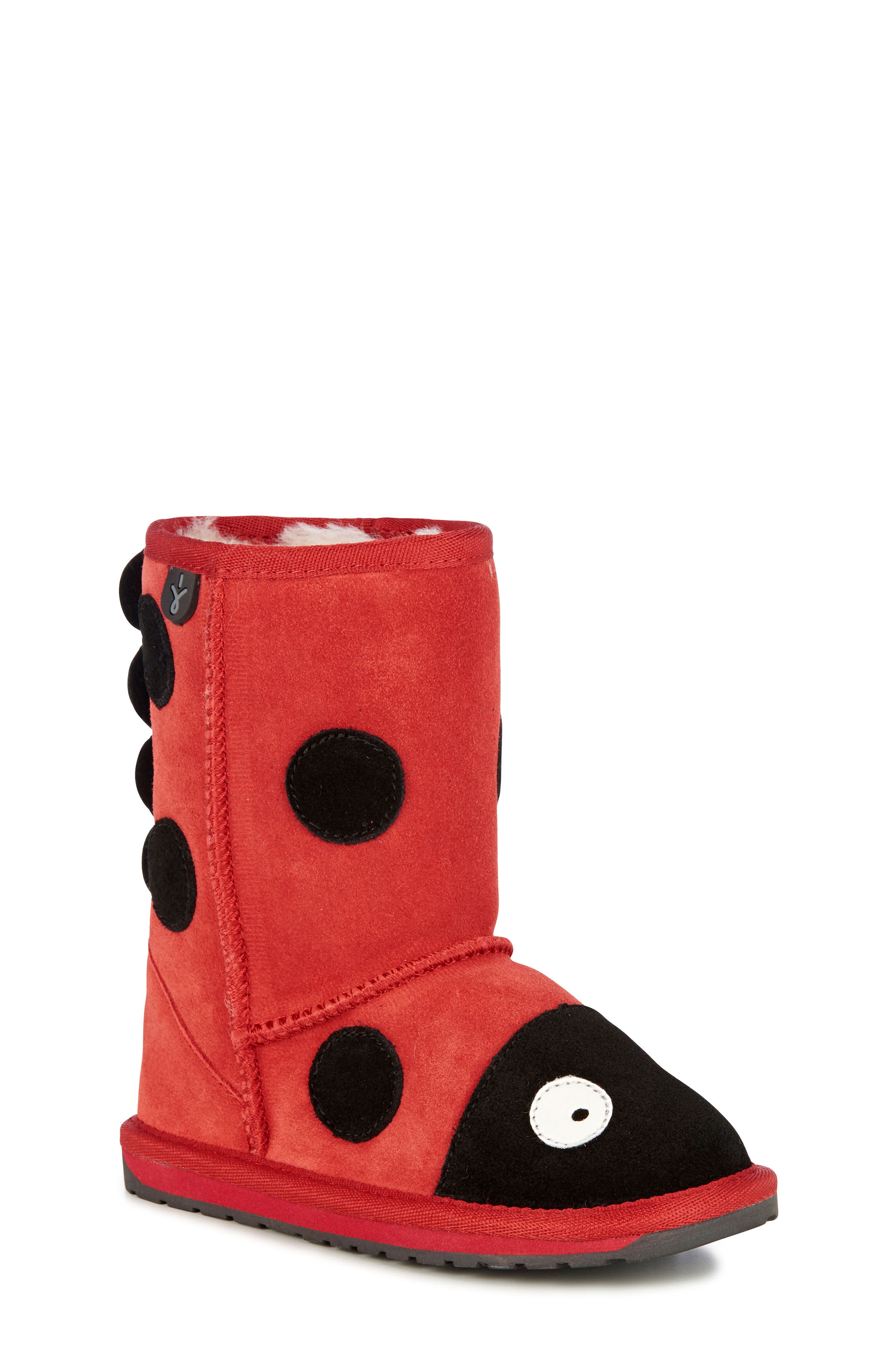 Little Creatures - Ladybug Boot,                             Main thumbnail 1, color,                             RED