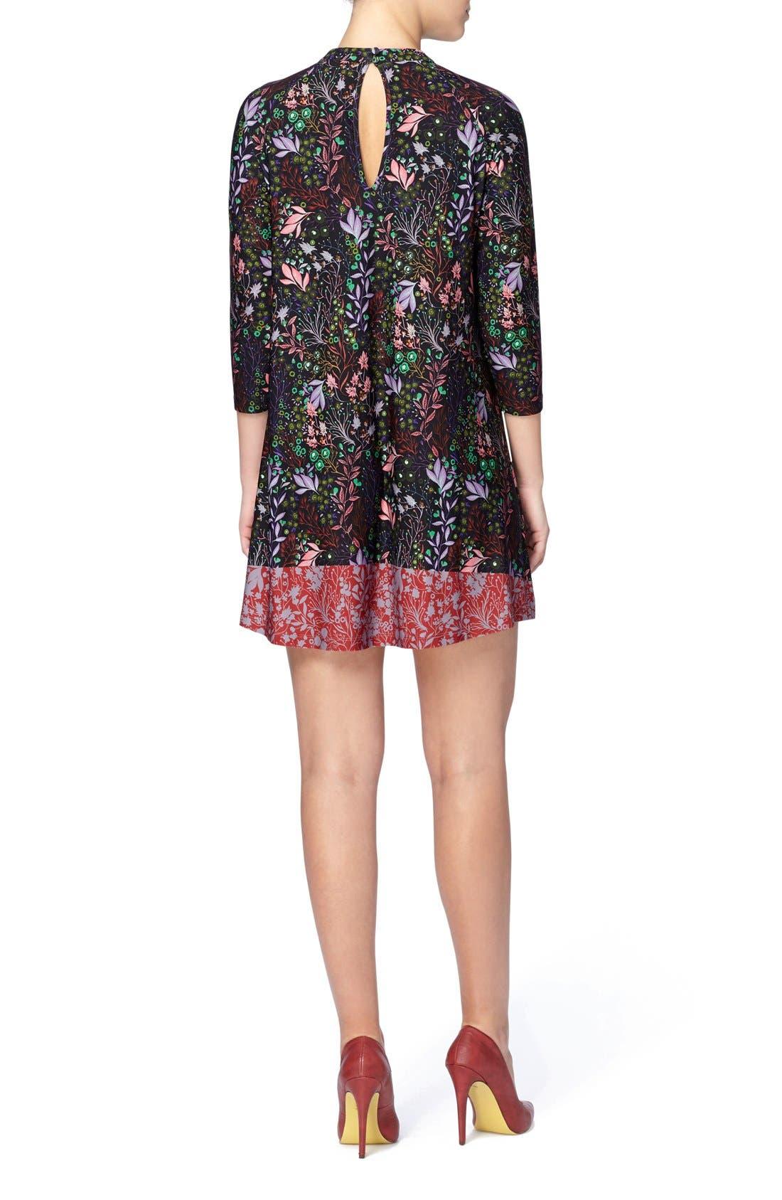 'Hayden' Mixed Print Minidress,                             Alternate thumbnail 6, color,