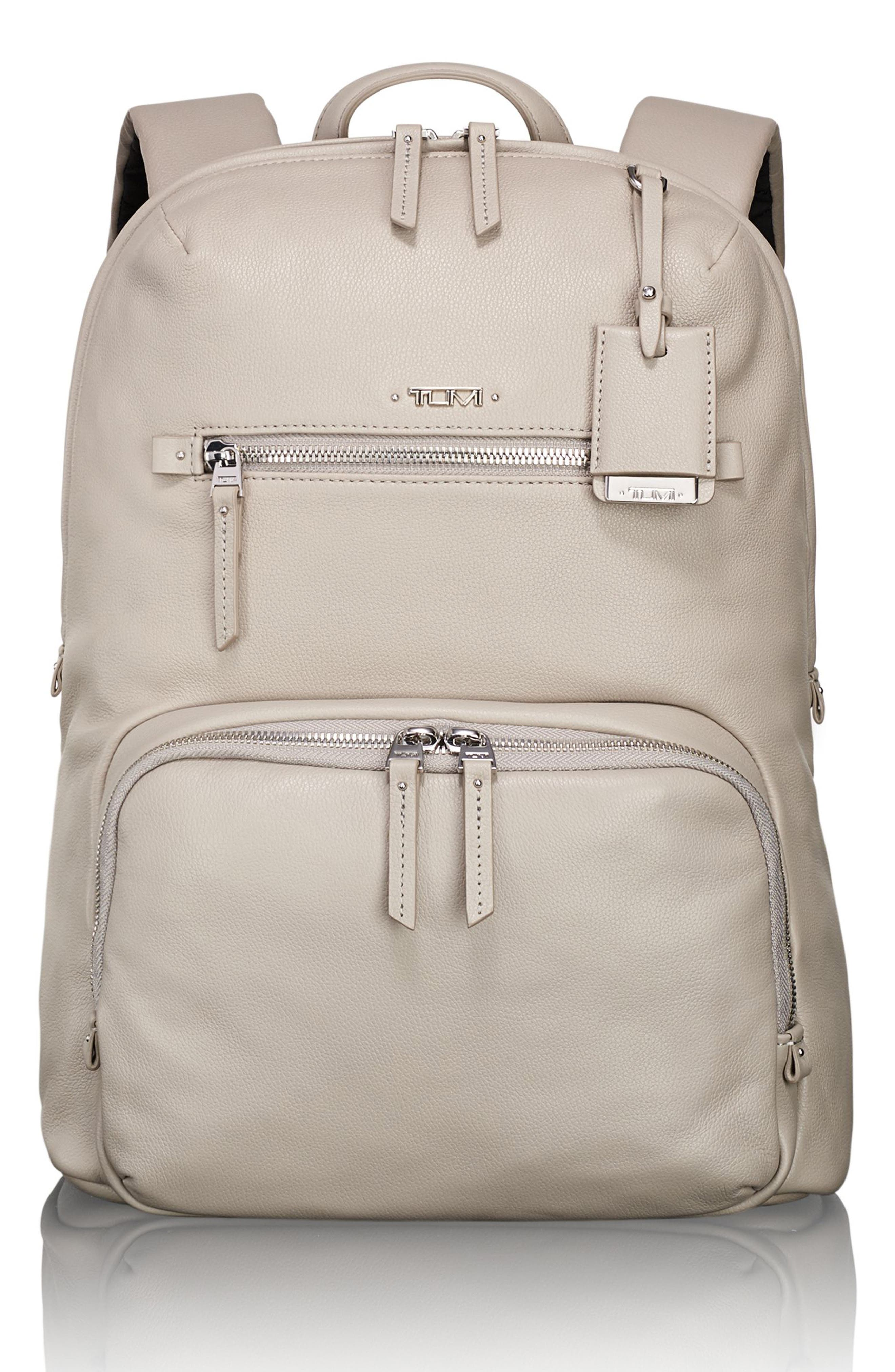 Voyageur Halle Leather Backpack,                             Main thumbnail 3, color,