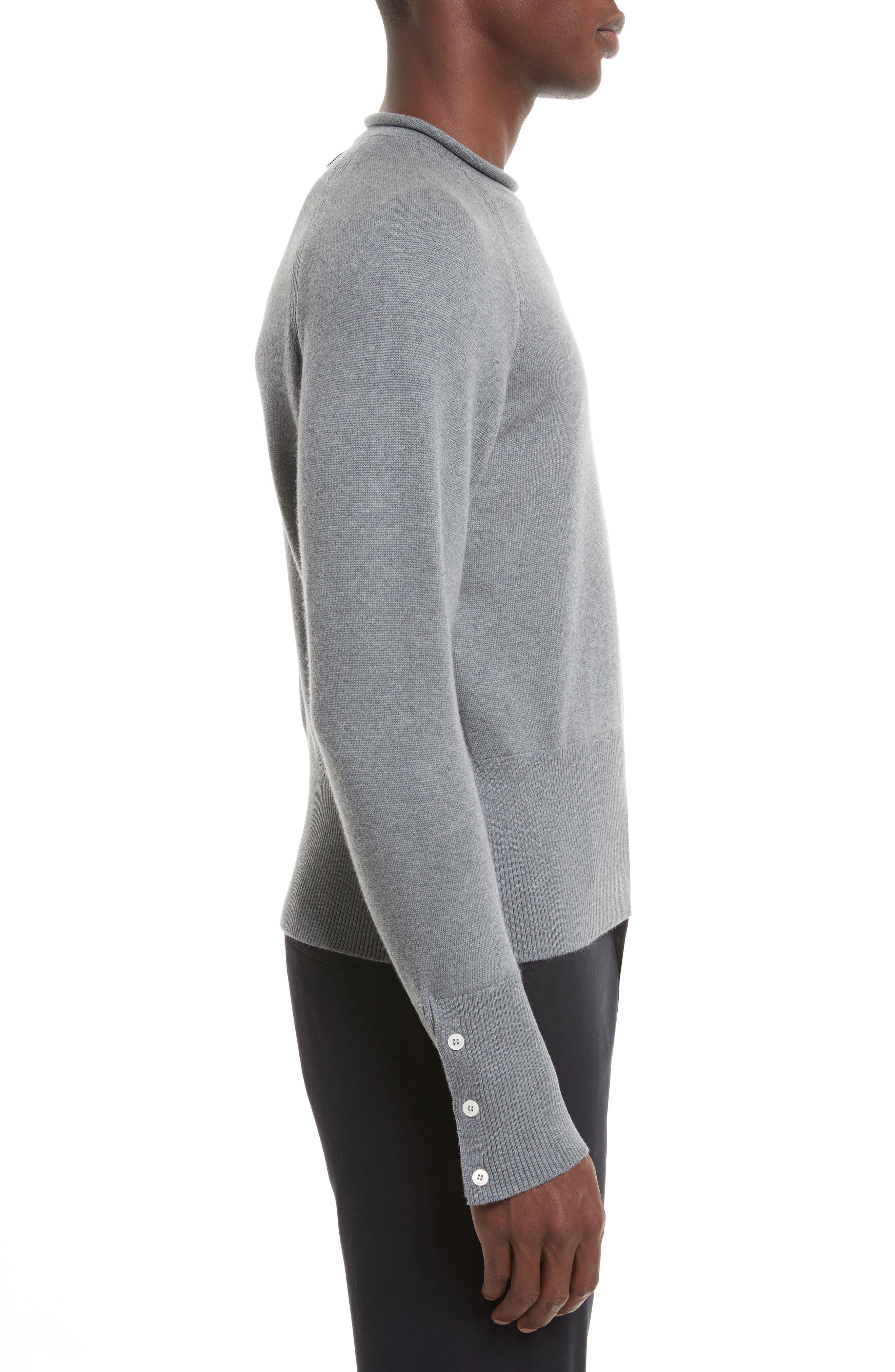 Raglan Merino Wool Sweater,                             Alternate thumbnail 3, color,                             020