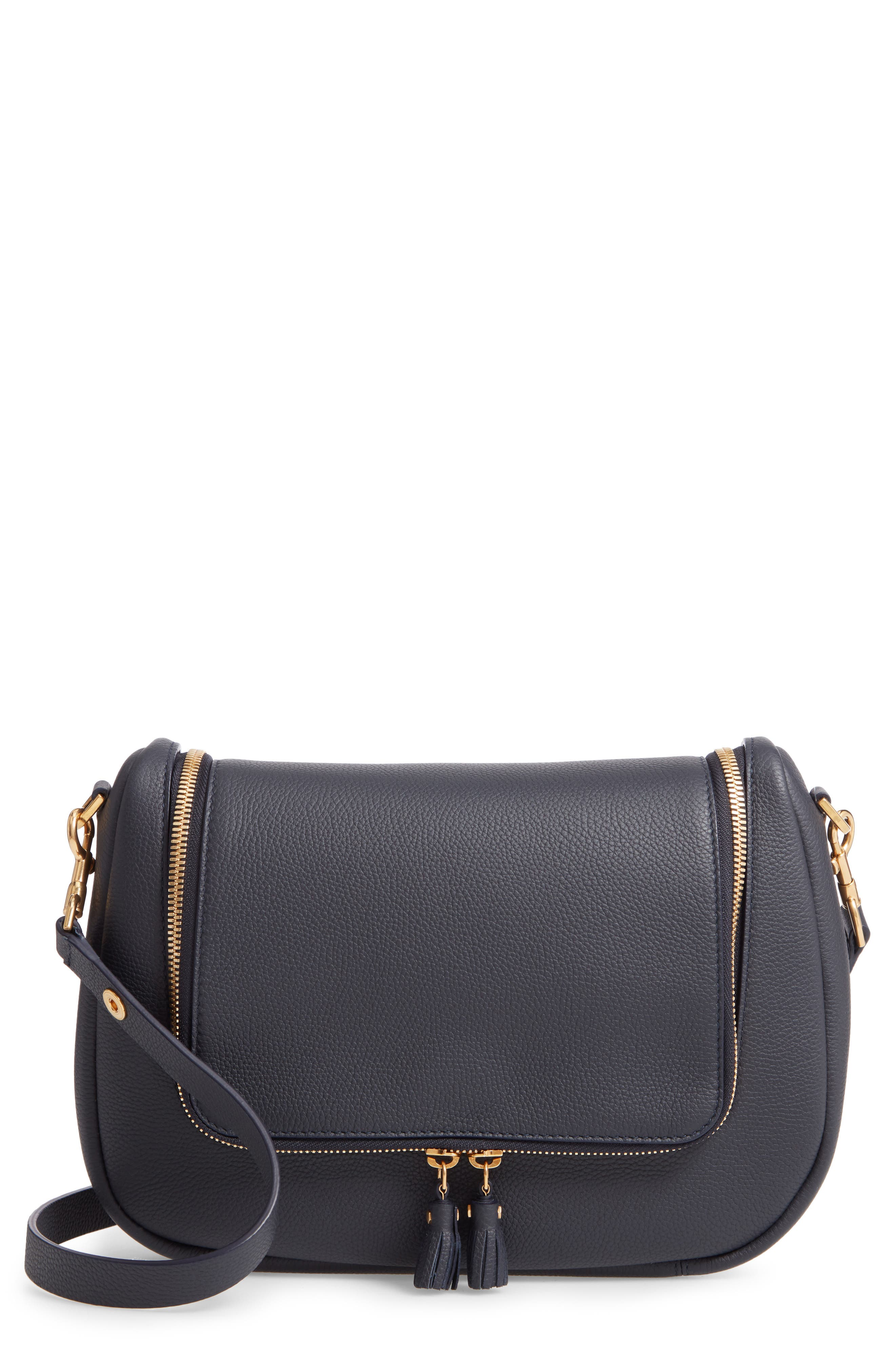 Mini Vere Leather Shoulder Satchel - Blue in Marine